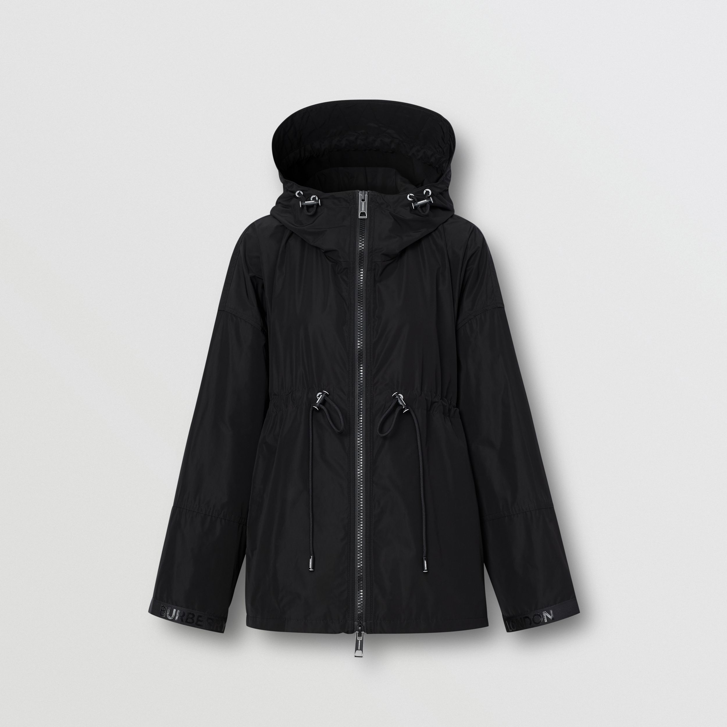 Logo Tape Shape-memory Taffeta Hooded Jacket - Women | Burberry - 4