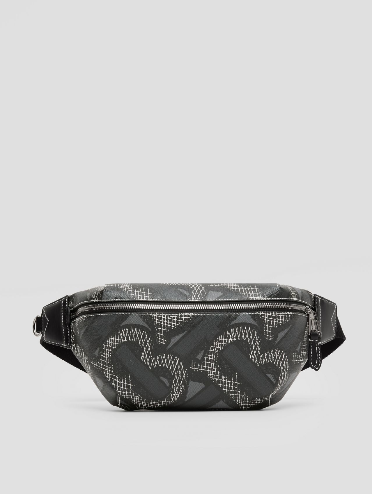 Monogram Print E-canvas Sonny Bum Bag (Graphite)