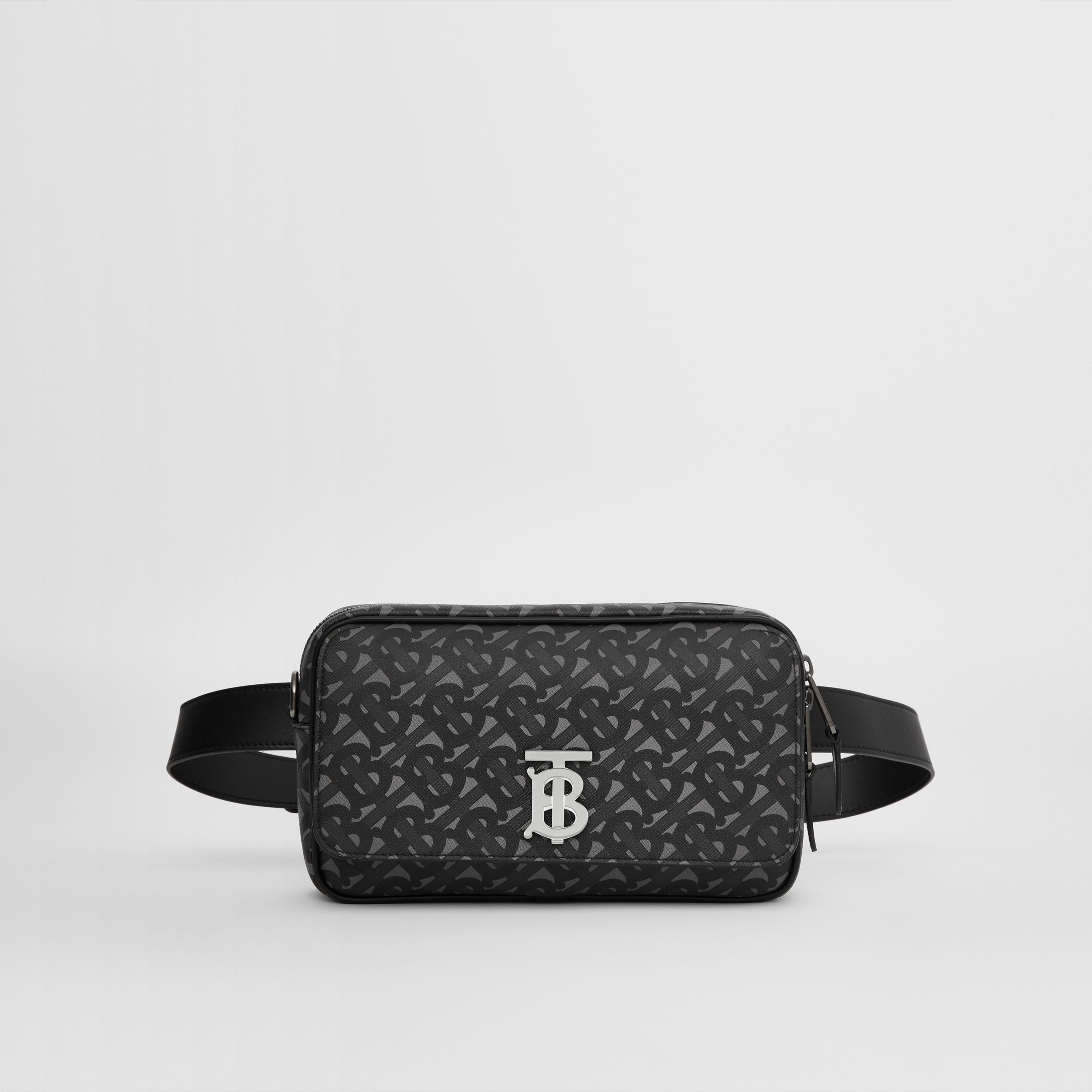 Monogram Print E-canvas Bum Bag in Charcoal/black - Men | Burberry - 1