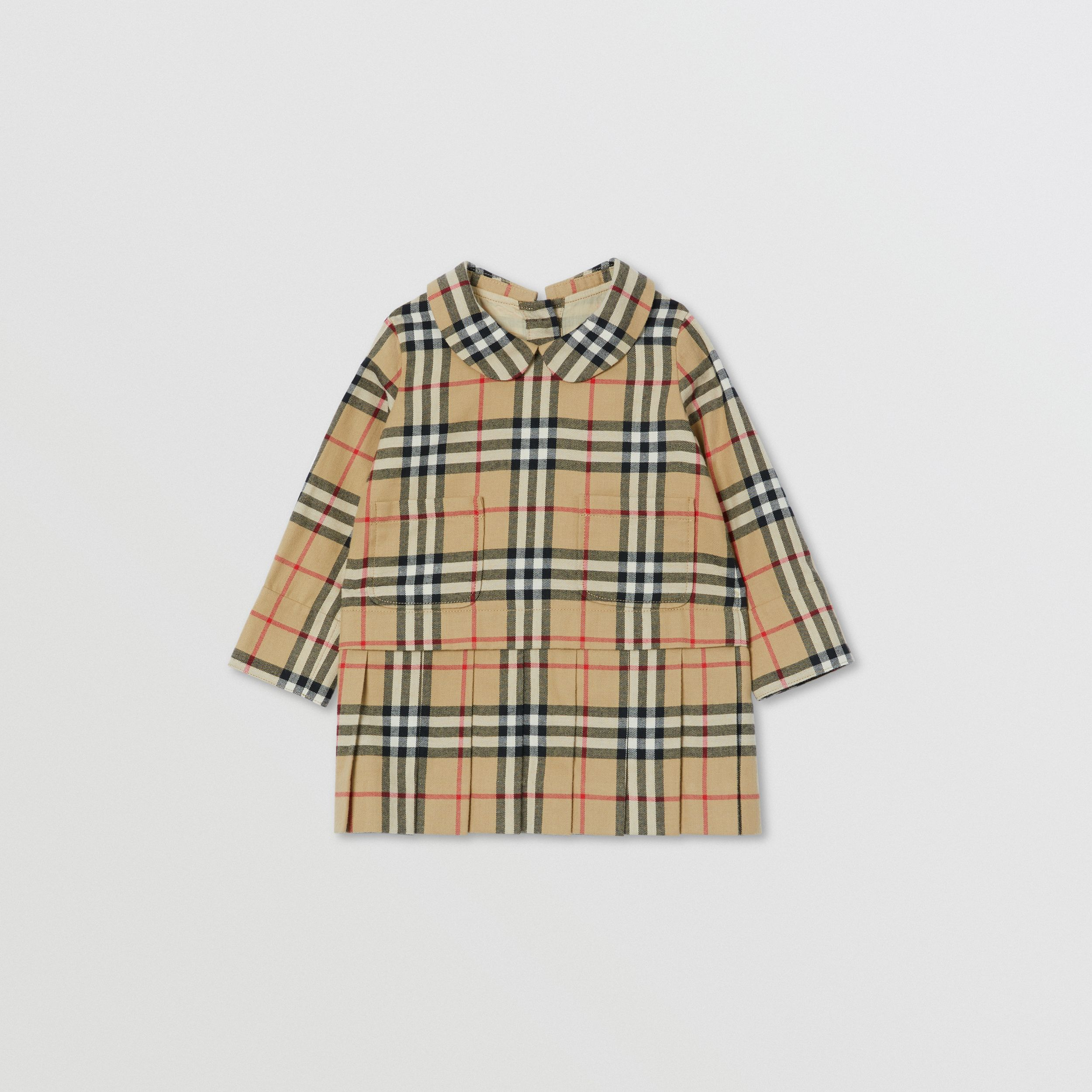 Peter Pan Collar Vintage Check Cotton Dress - Children | Burberry - 1