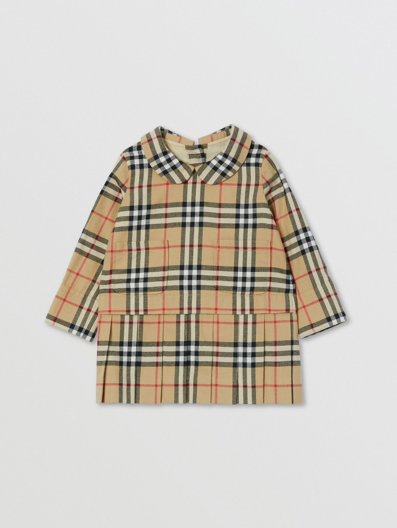 Peter Pan Collar Vintage Check Cotton Dress
