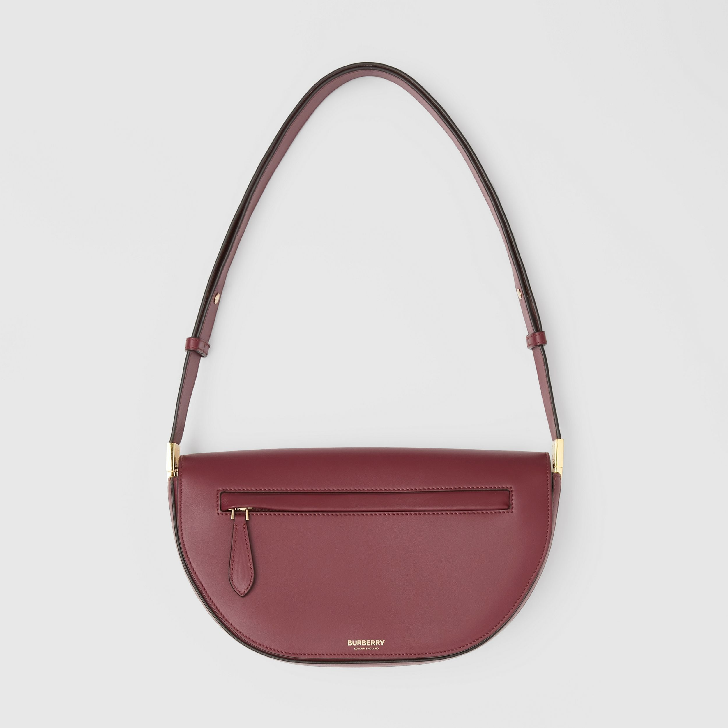 Small Leather Olympia Bag in Burgundy | Burberry - 1