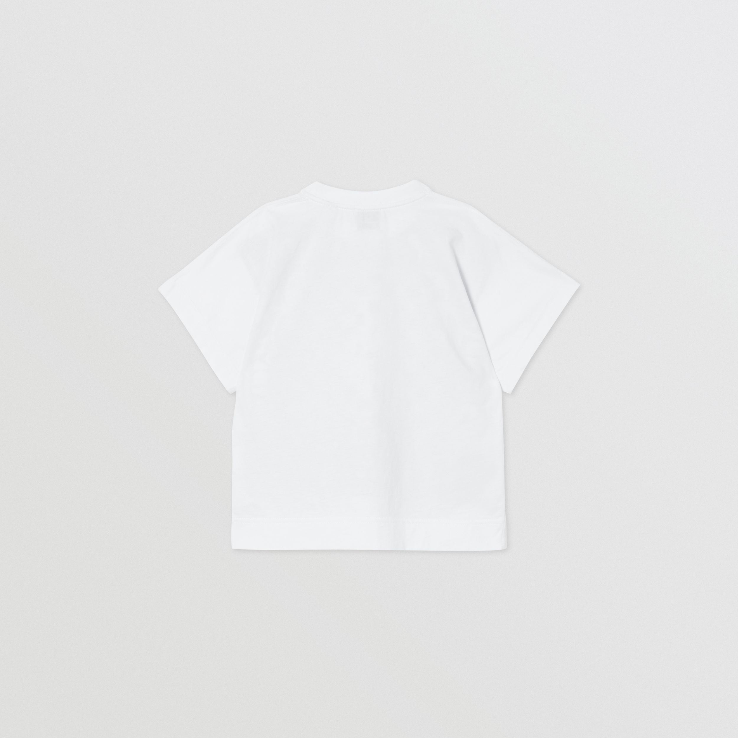 Scarf Print Cotton T-shirt in White | Burberry - 4