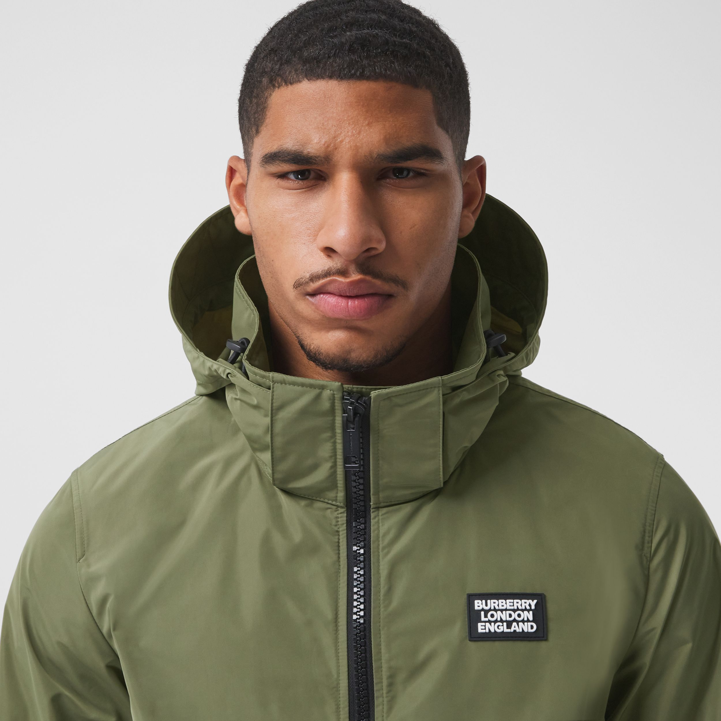 Packaway Hood Shape-memory Taffeta Jacket in Olive - Men | Burberry - 2