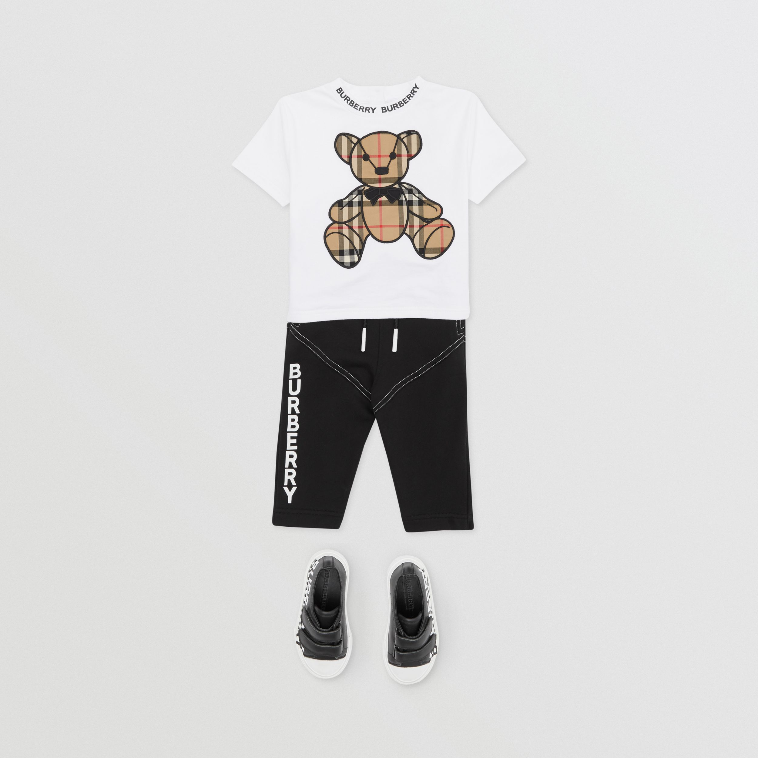 Thomas Bear Appliqué Cotton T-shirt in White - Children | Burberry Hong Kong S.A.R. - 3