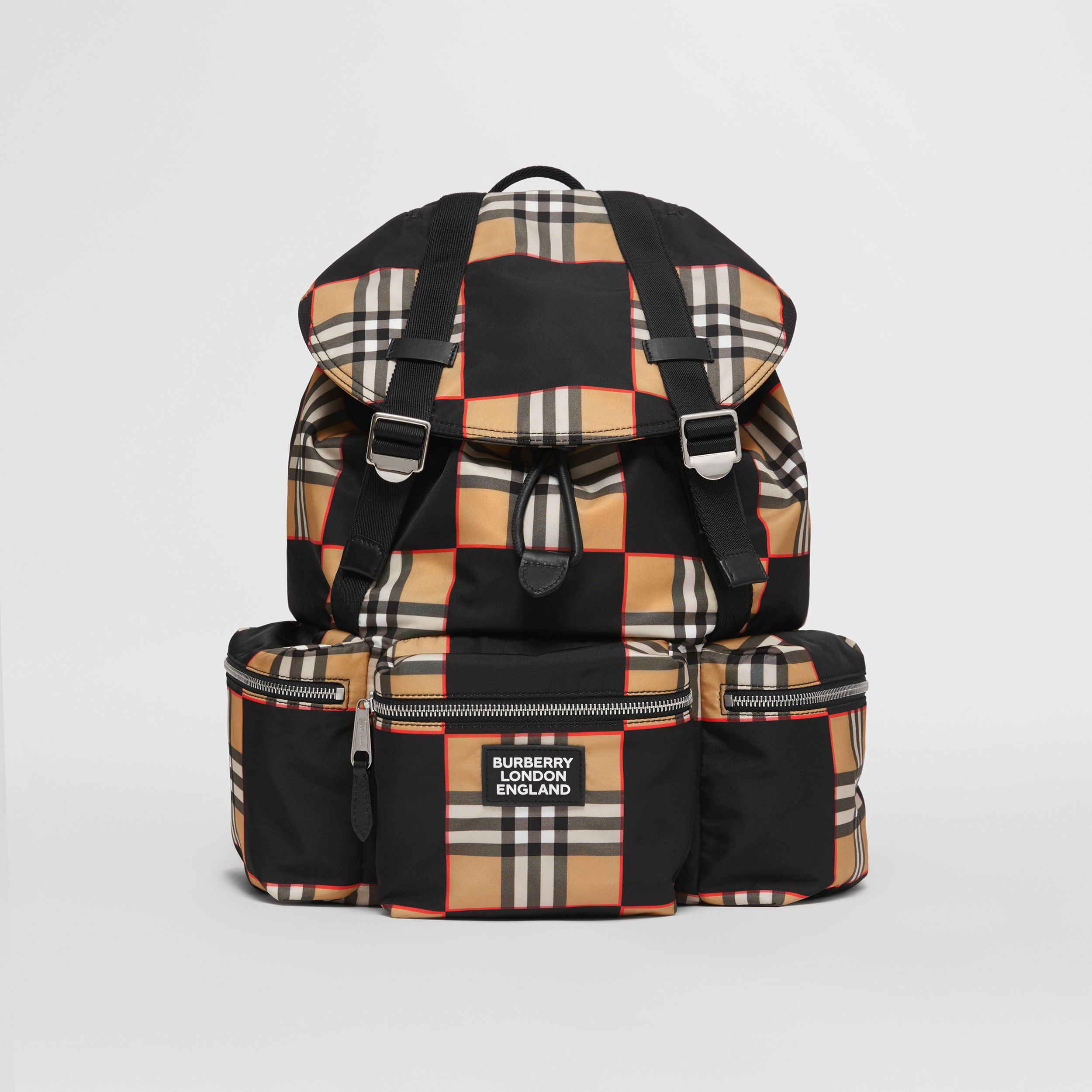 Logo Appliqué Chequer ECONYL® Backpack - Men | Burberry - 1
