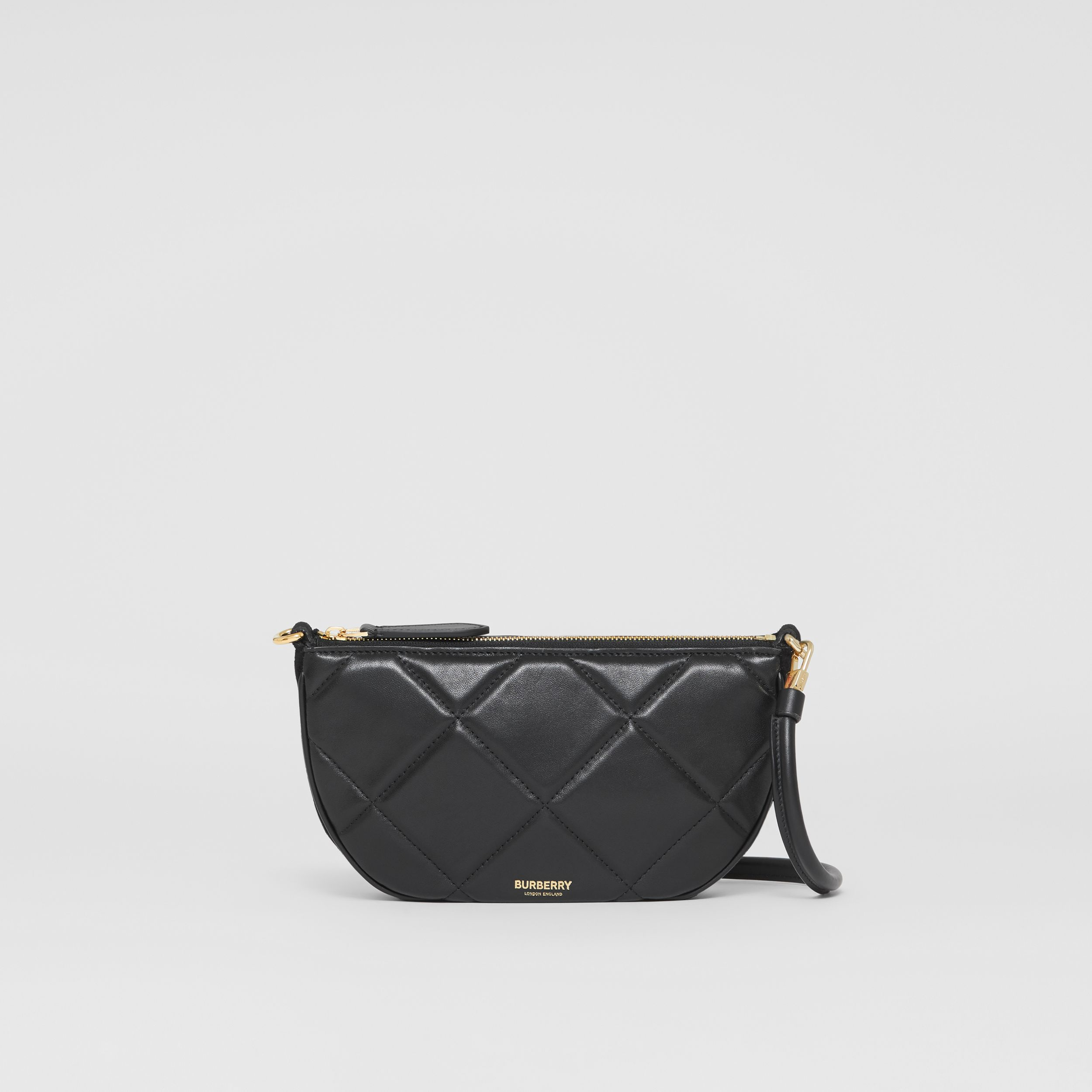 Quilted Lambskin Olympia Pouch in Black - Women | Burberry Hong Kong S.A.R. - 3