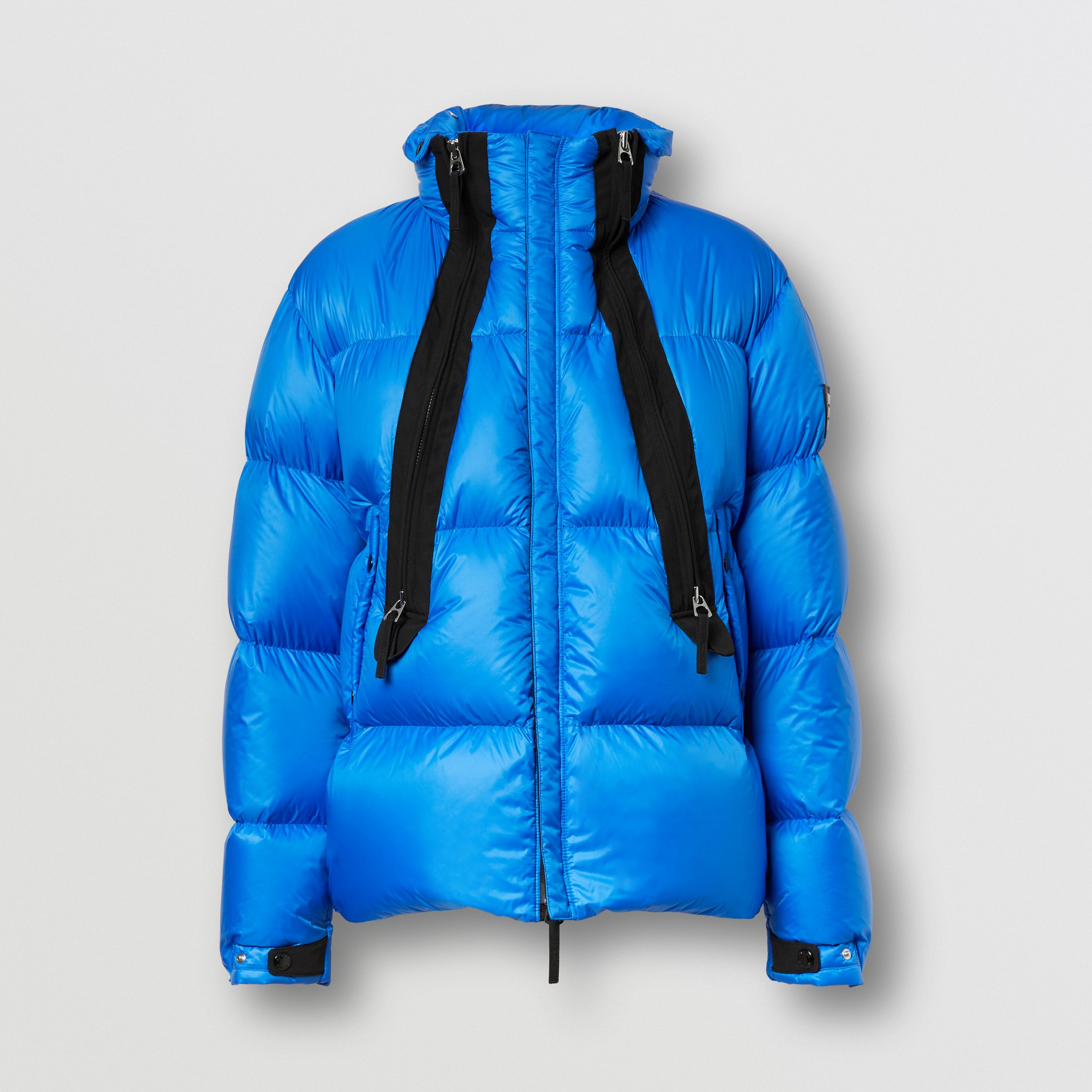 Packaway Hood Zip Detail Puffer Jacket in Canvas Blue - Men | Burberry - 4