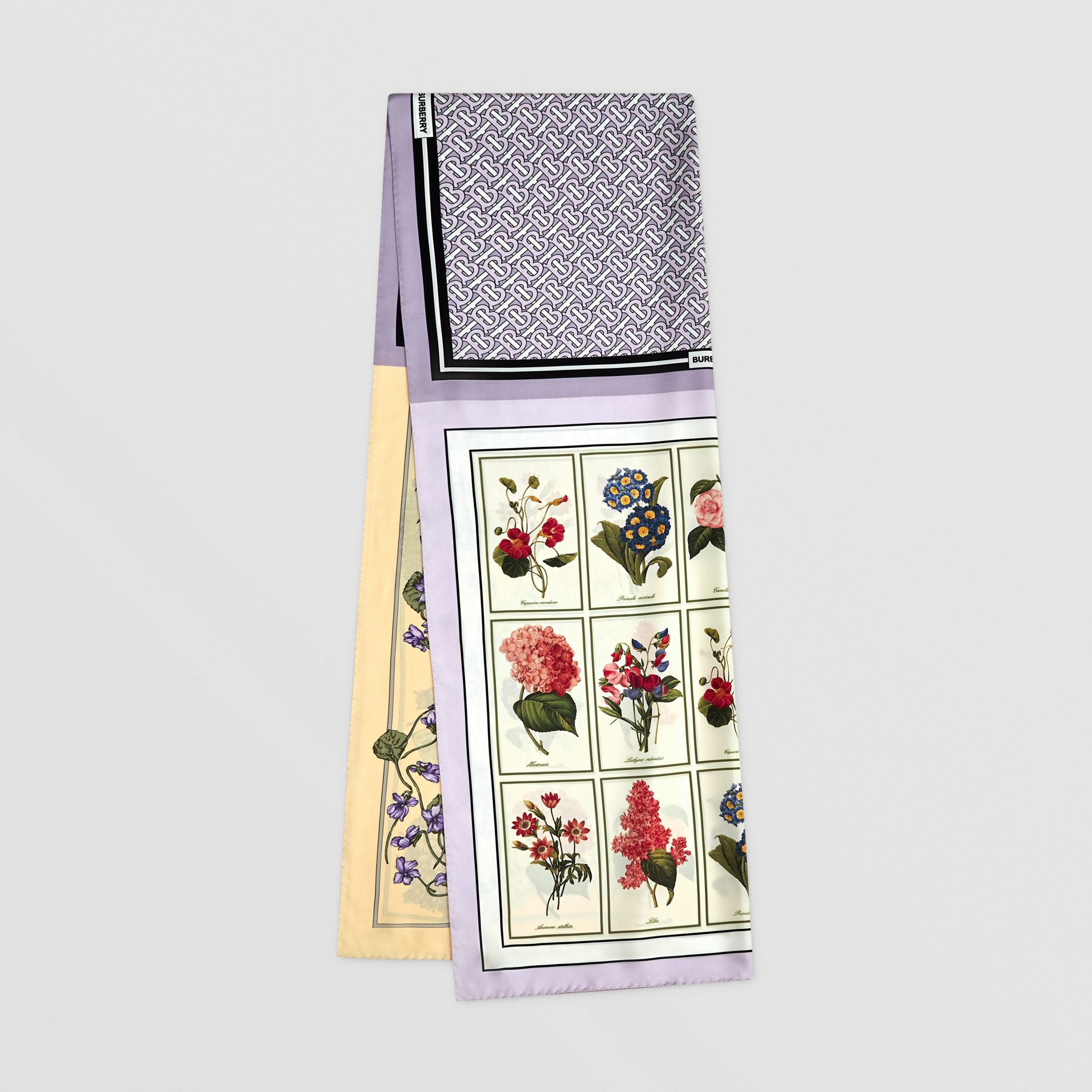 Montage Print Silk Scarf in Pale Thistle | Burberry - 1