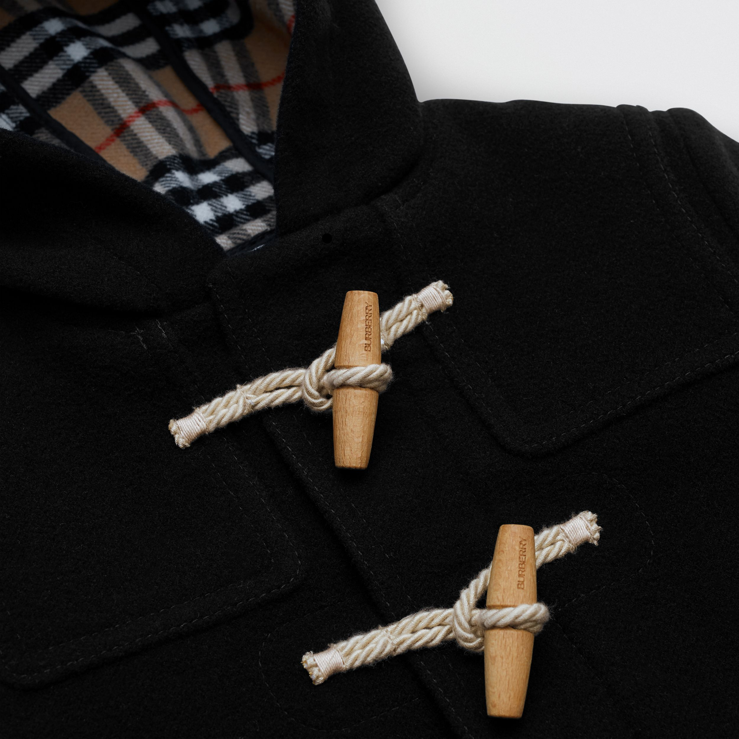 Double-faced Wool Duffle Coat in Black | Burberry - 2