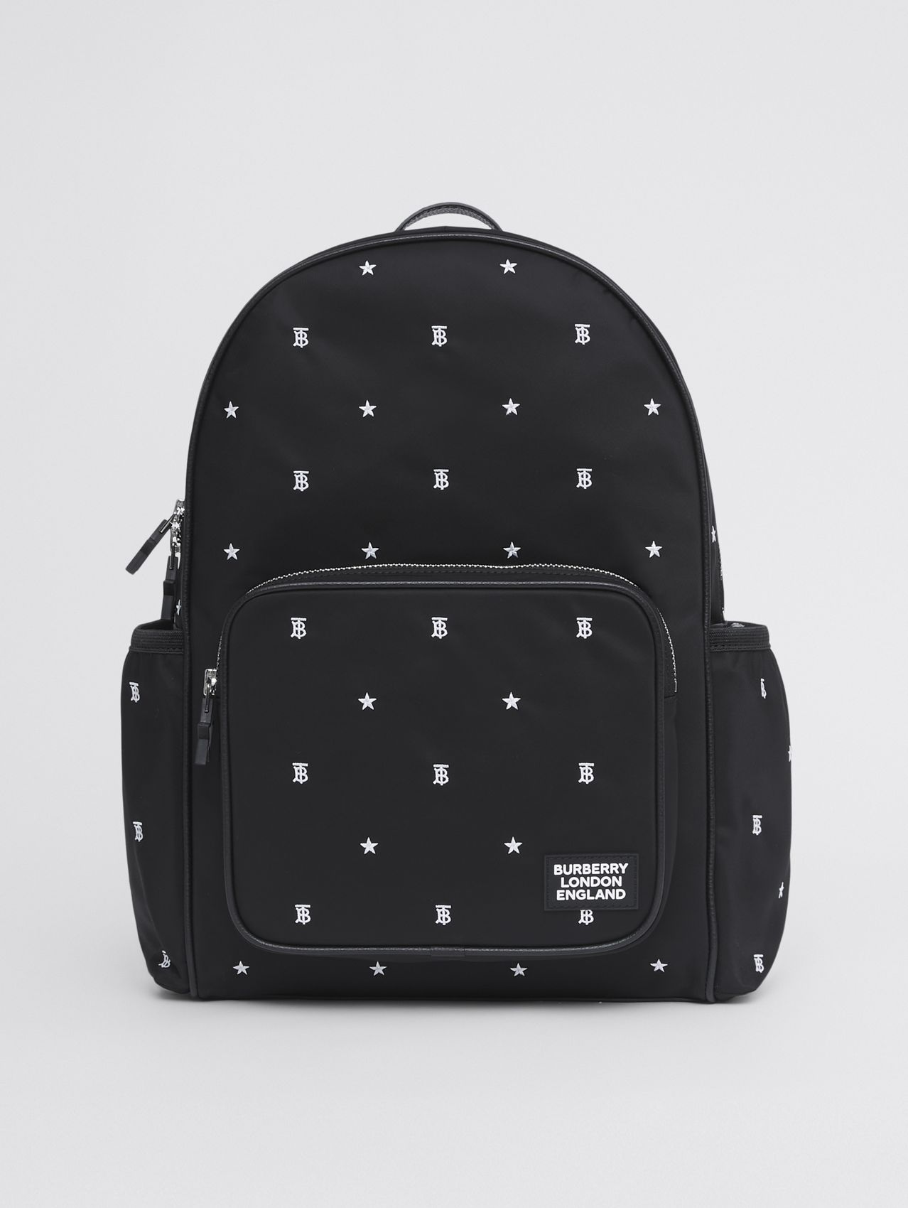 Star and Monogram Motif ECONYL® Backpack in Black