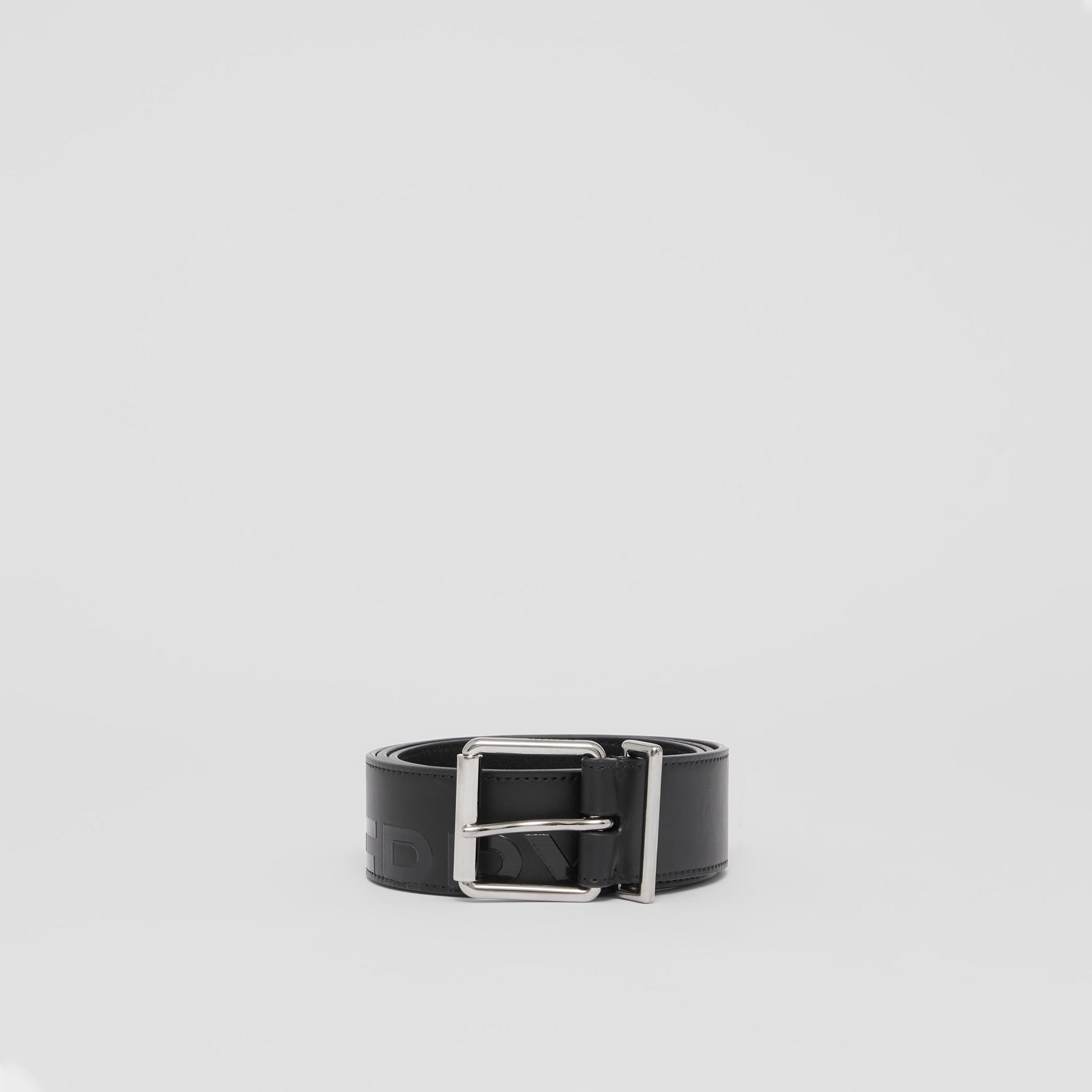 Horseferry Print Leather Belt in Black - Men | Burberry - 4