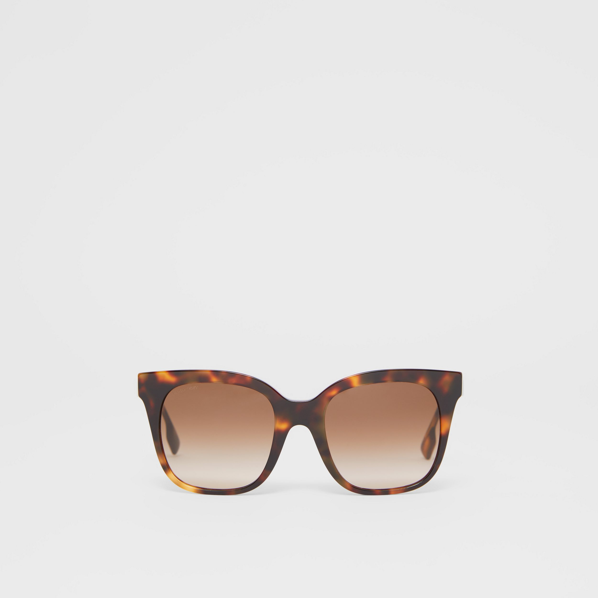 Butterfly Frame Sunglasses in Dark Amber Tortoiseshell - Women | Burberry - 1