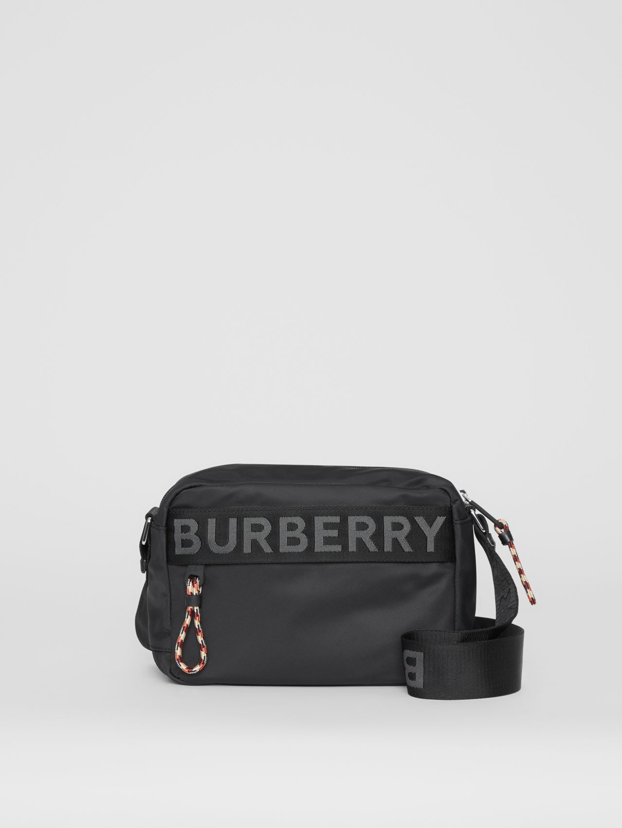Logo Detail ECONYL® Crossbody Bag in Black