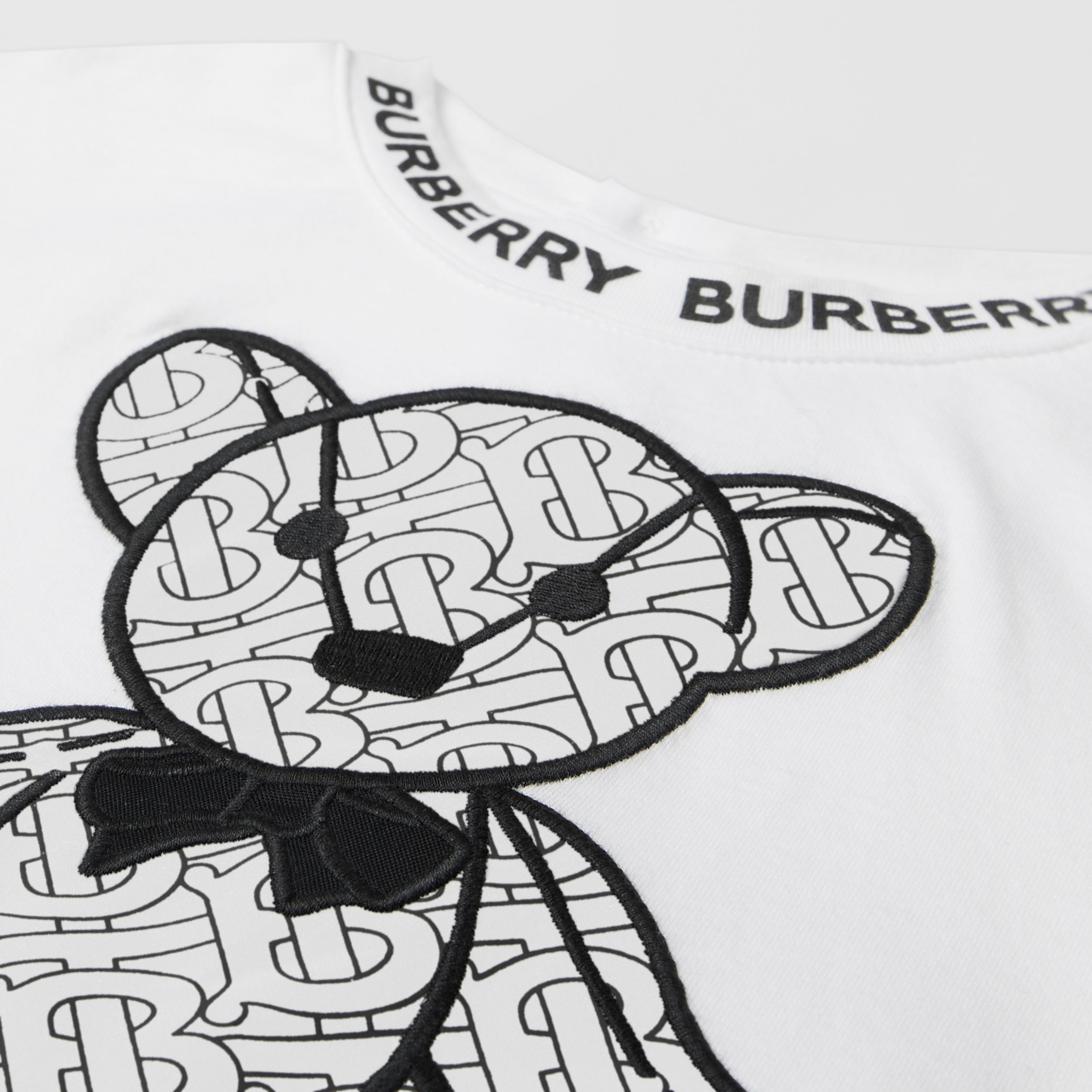 Thomas Bear Appliqué Cotton T-shirt in White - Children | Burberry - 2