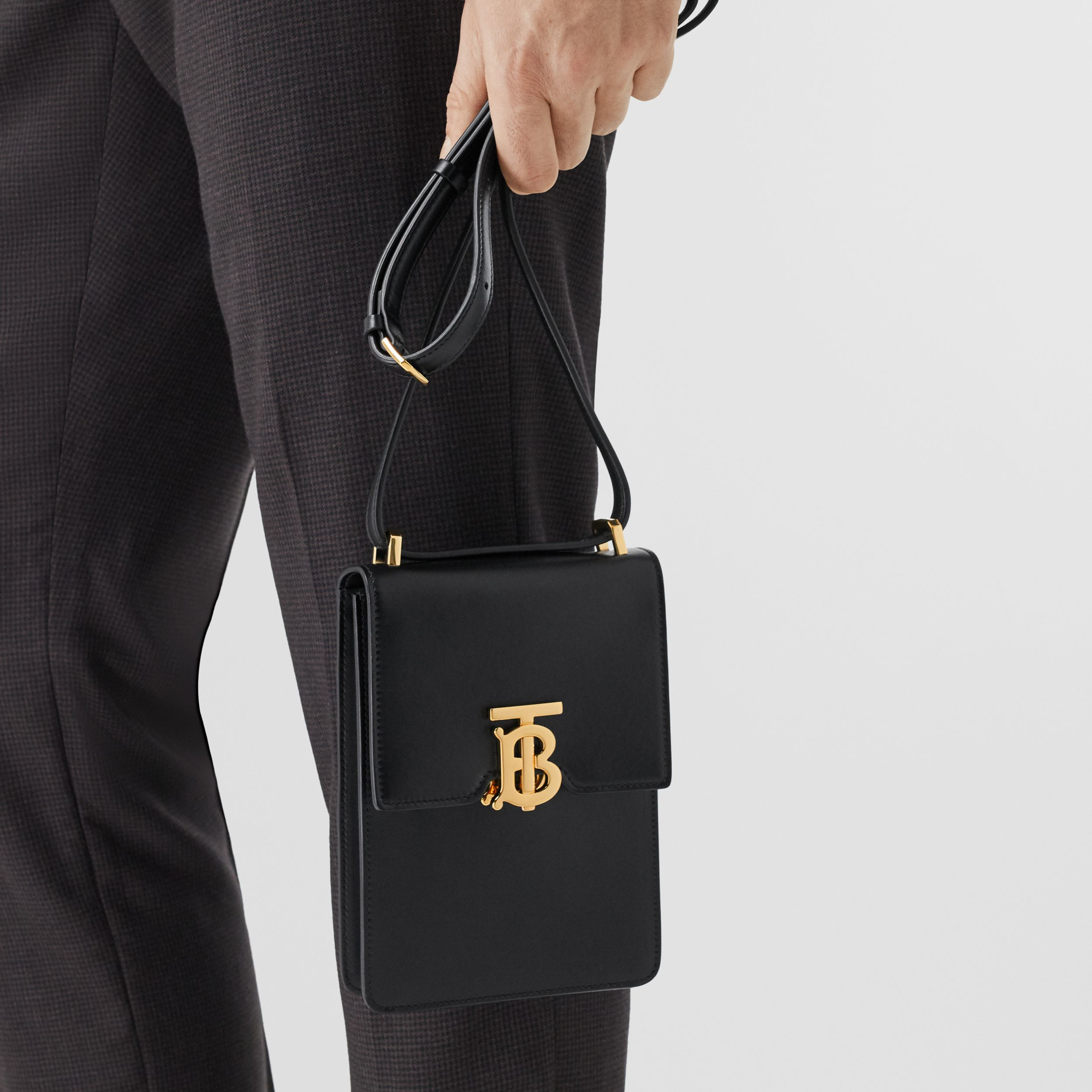 Leather Robin Bag in Black | Burberry - 4