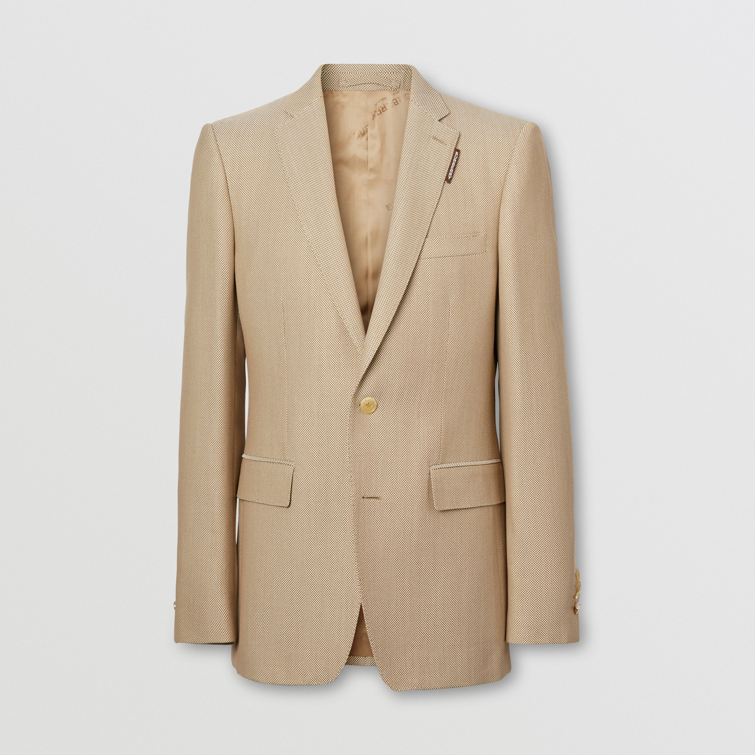 English Fit Technical Wool Canvas Tailored Jacket in Dusty Sand - Men | Burberry - 4