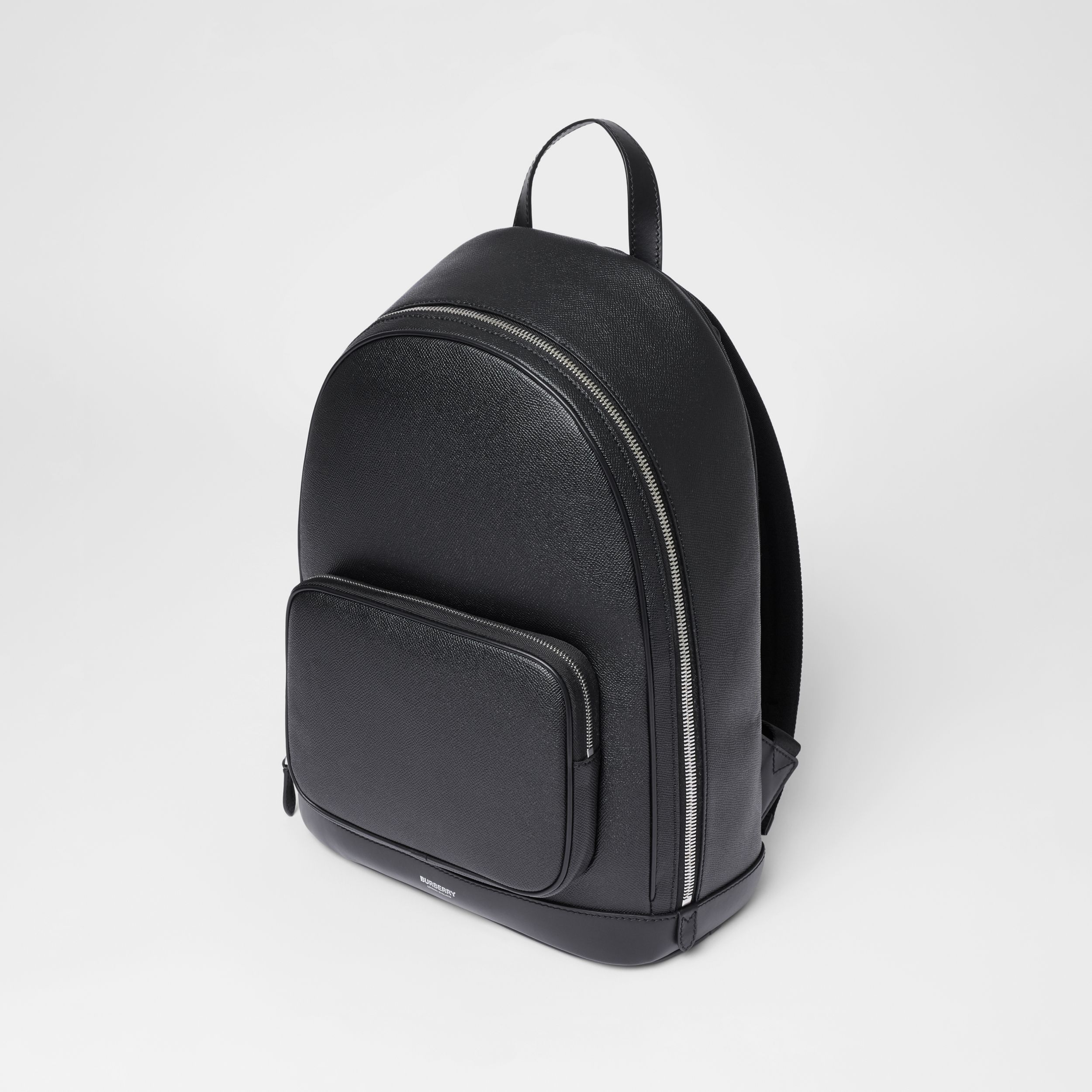 Grainy Leather Backpack in Black - Men | Burberry - 3