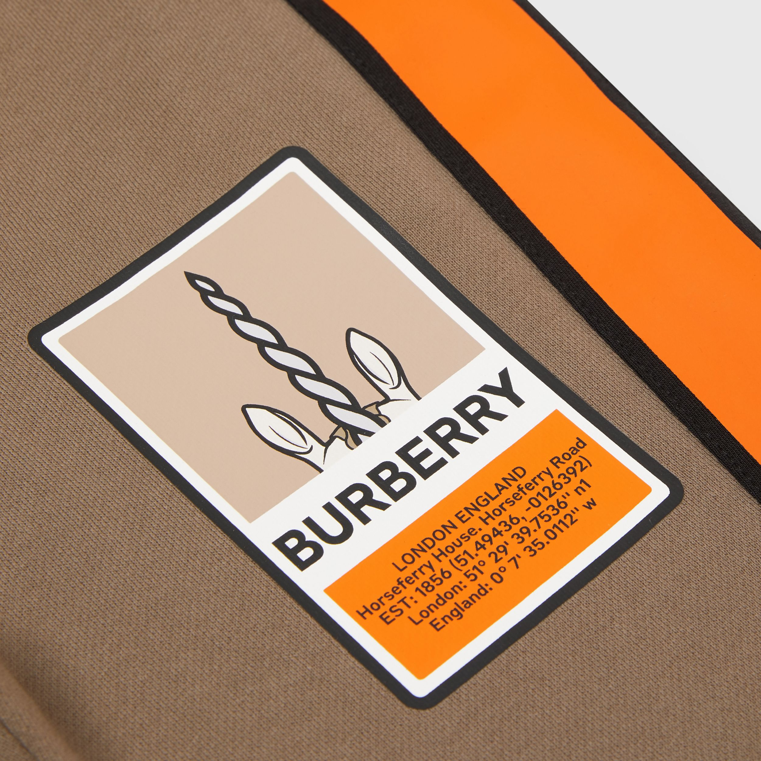 Logo Graphic Print Cotton Jogging Pants in Smoke | Burberry - 2