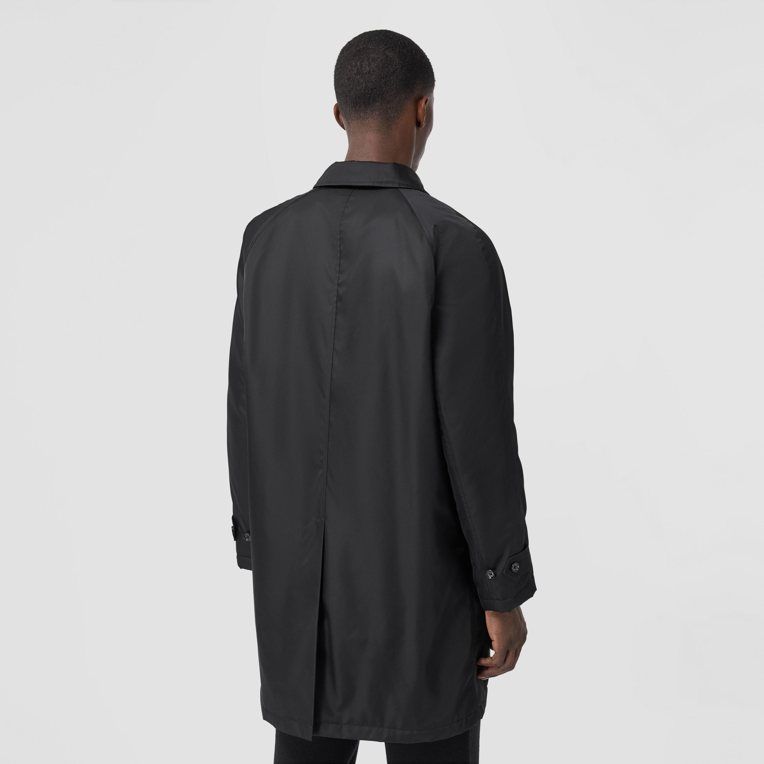 Logo Graphic ECONYL® Car Coat in Black - Men | Burberry Canada - 3