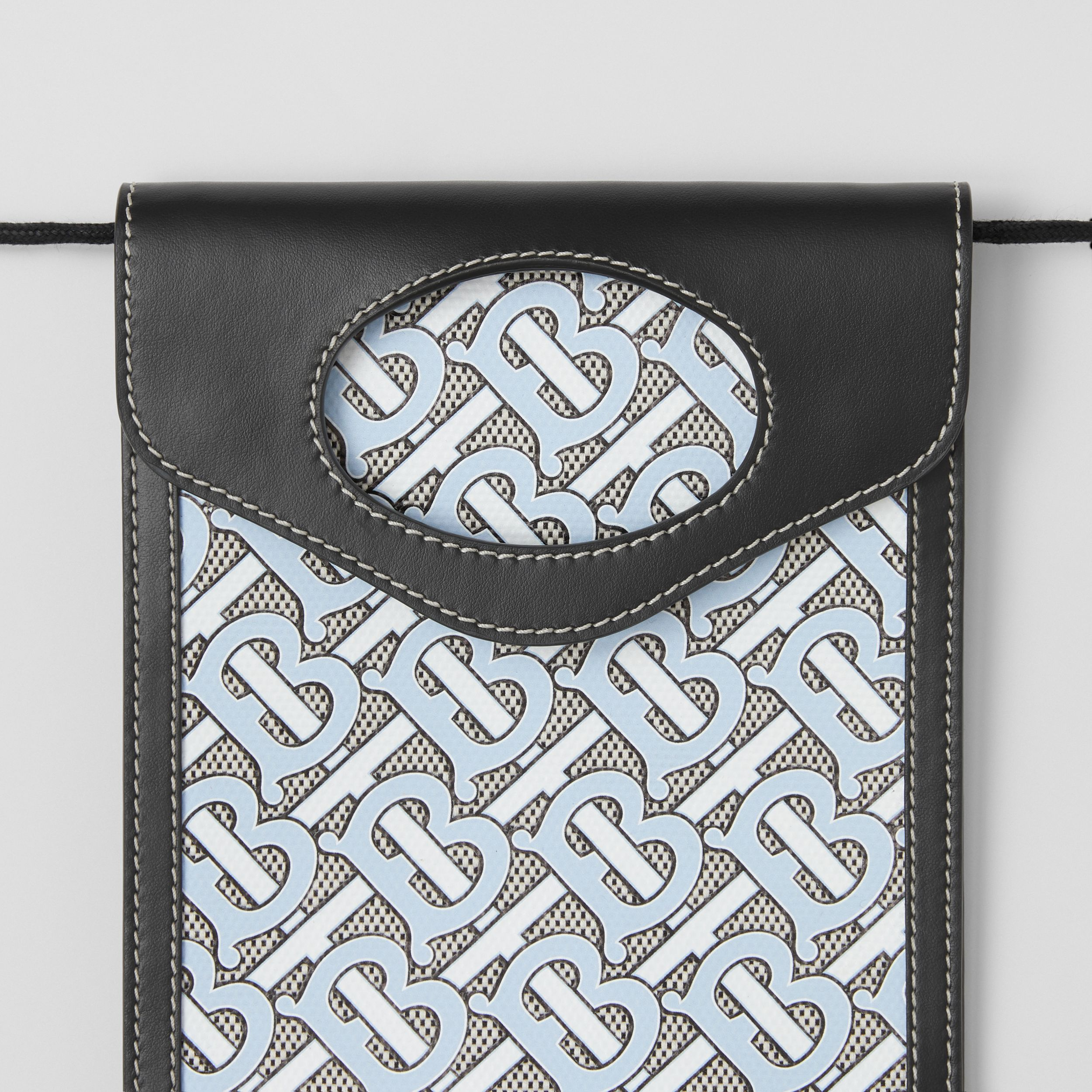 Monogram Canvas and Leather Pocket Phone Case in Baby Blue - Men | Burberry - 2