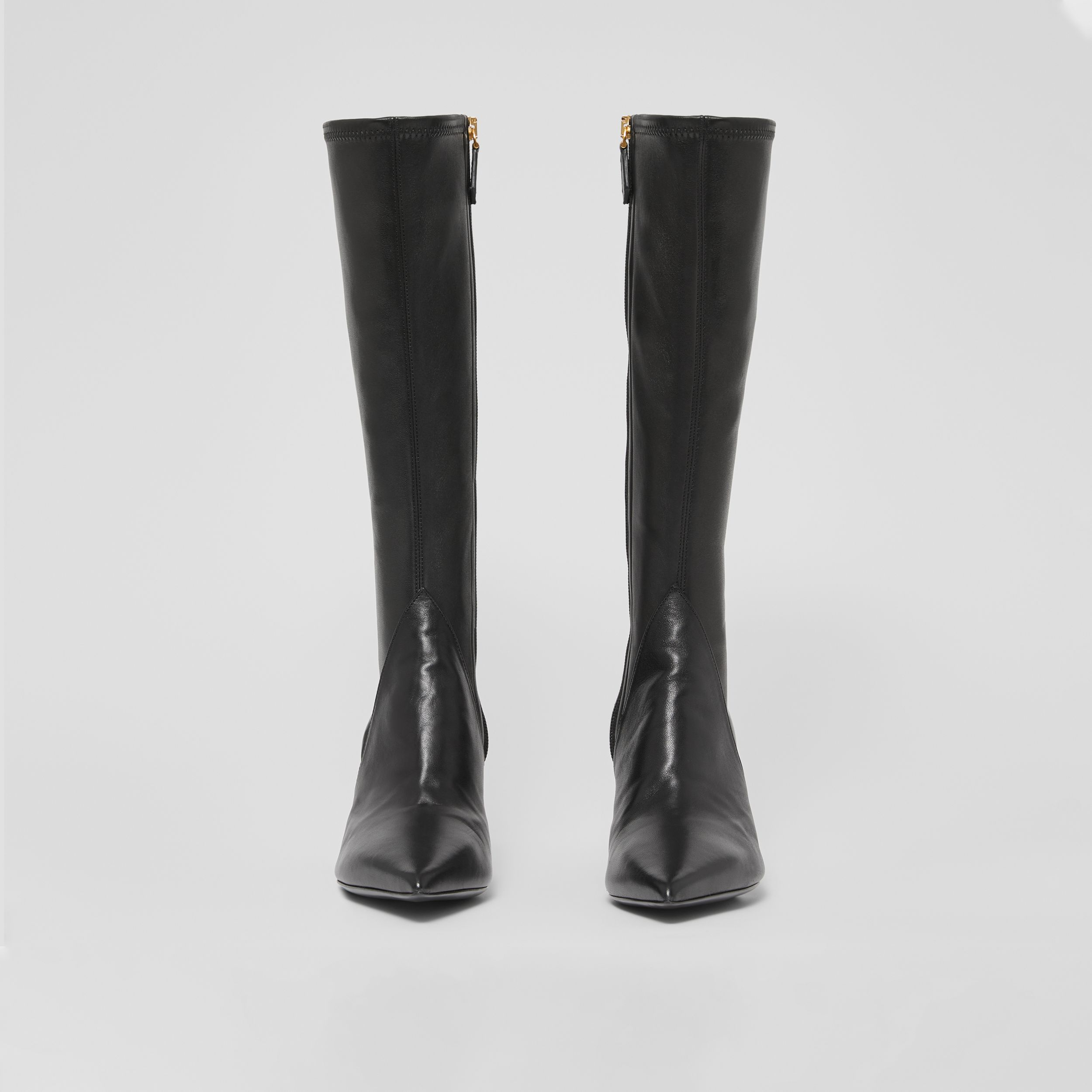 Panelled Lambskin Knee-high Boots in Black - Women | Burberry - 3