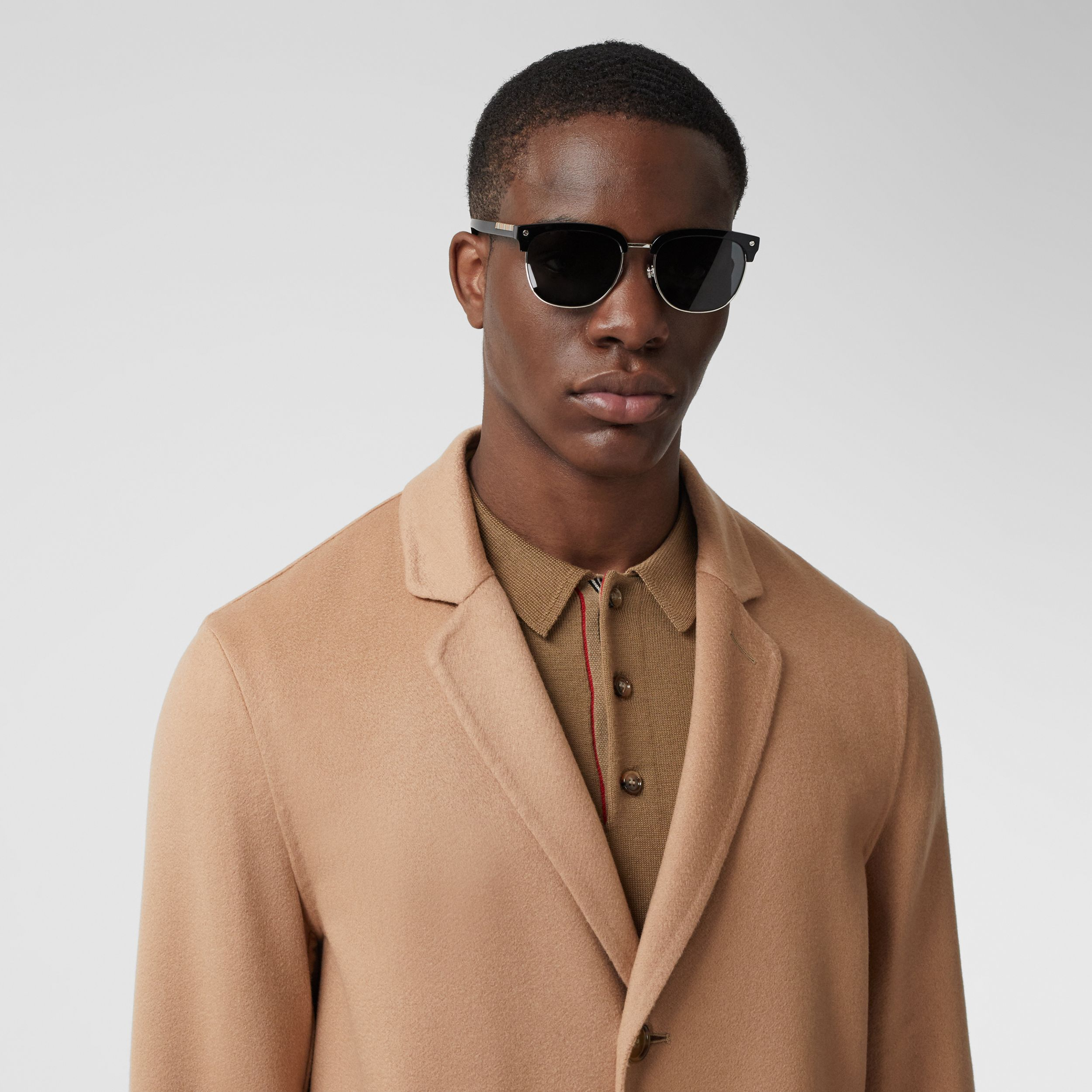 Double-faced Regenerated Cashmere Lab Coat in Camel - Men | Burberry - 2