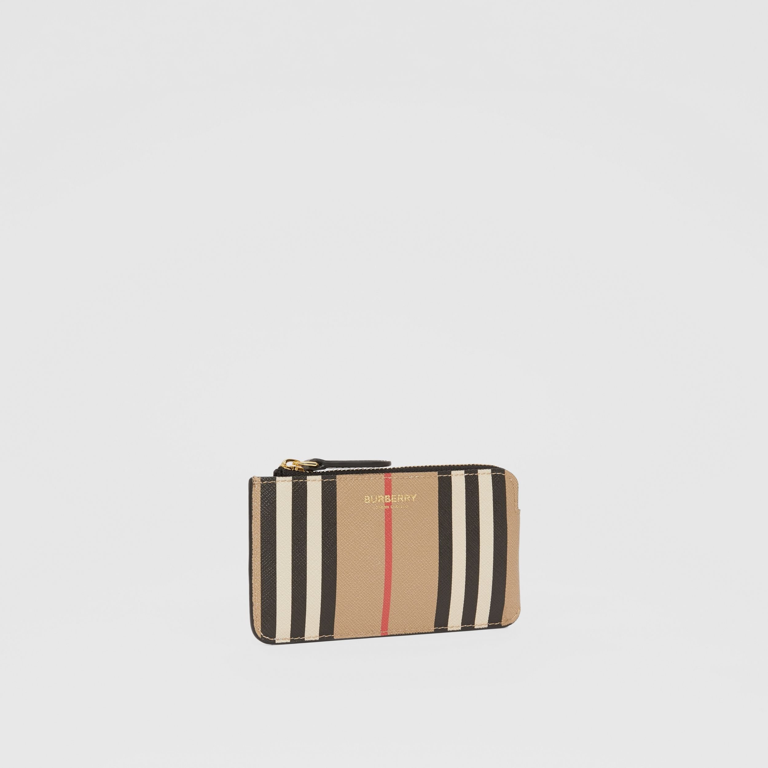 Icon Stripe E-canvas Zip Coin Case in Archive Beige - Women | Burberry - 4