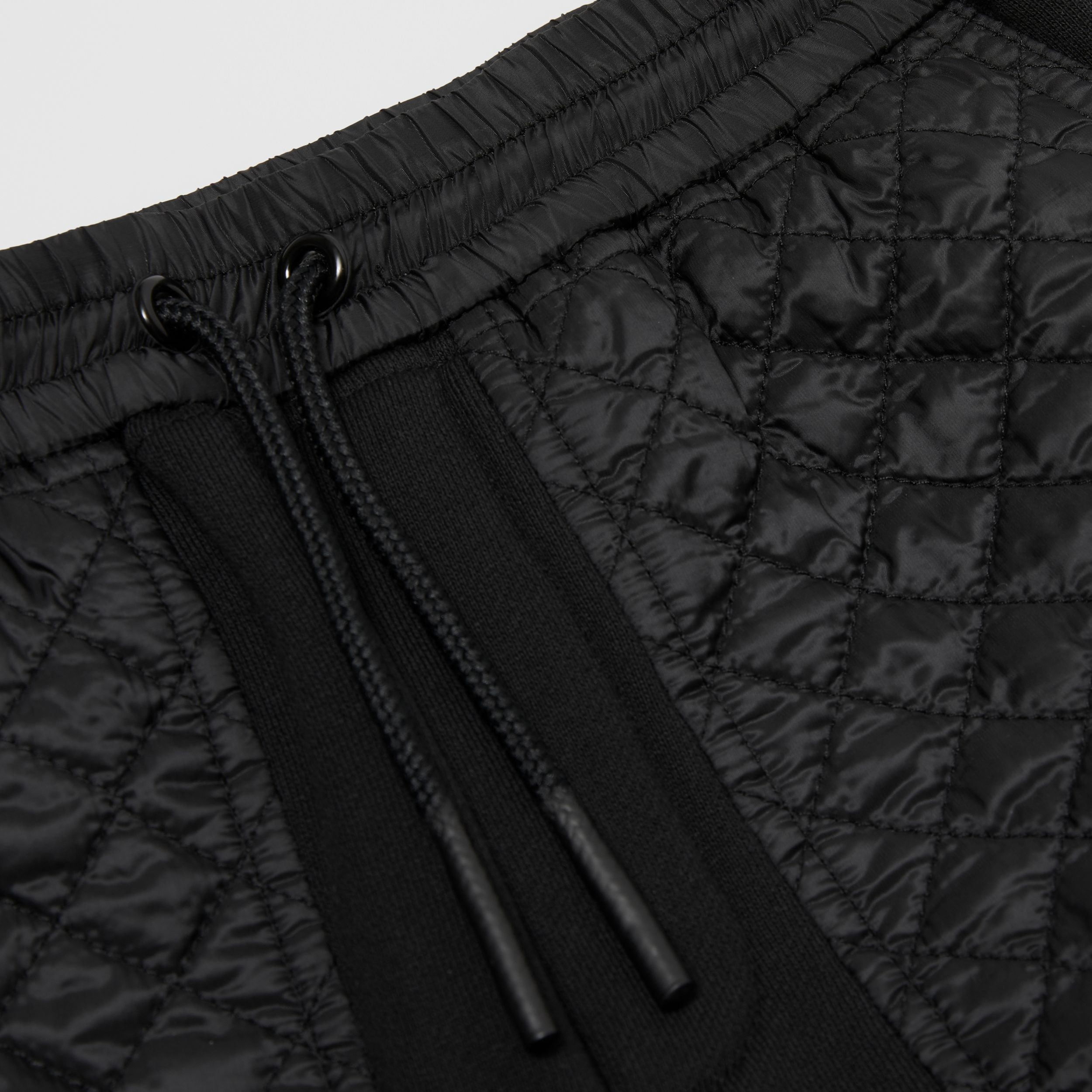 Monogram Quilted Panel Cotton Jogging Pants in Black | Burberry United States - 2