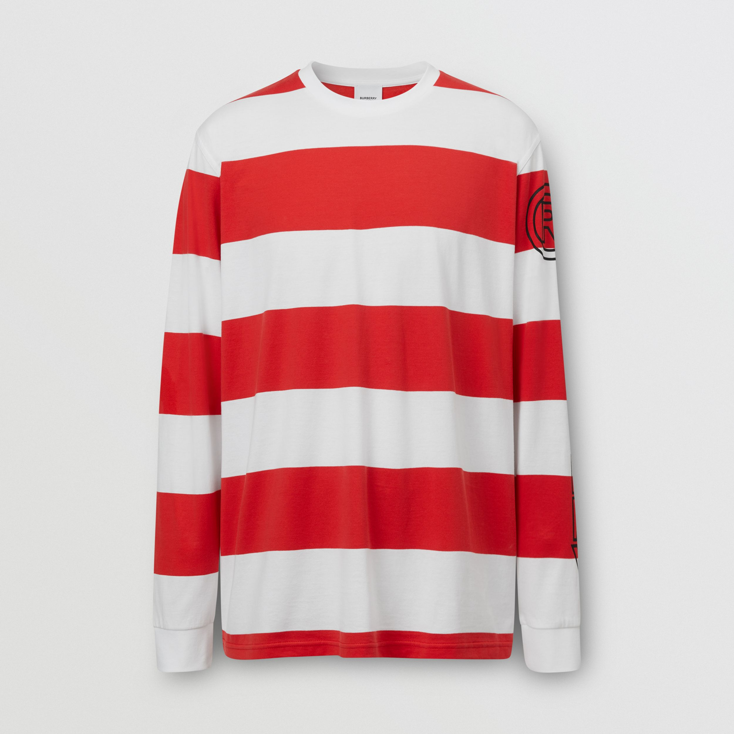 Long-sleeve Striped Cotton Oversized Top - Men | Burberry - 1