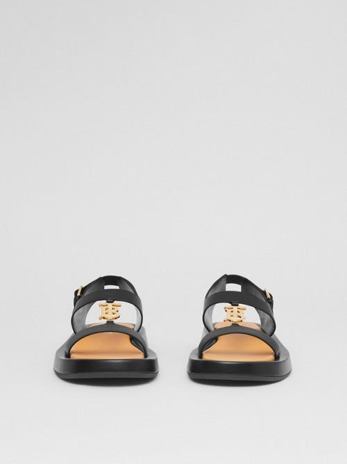 BURBERRY Leathers Monogram Motif Leather Sandals