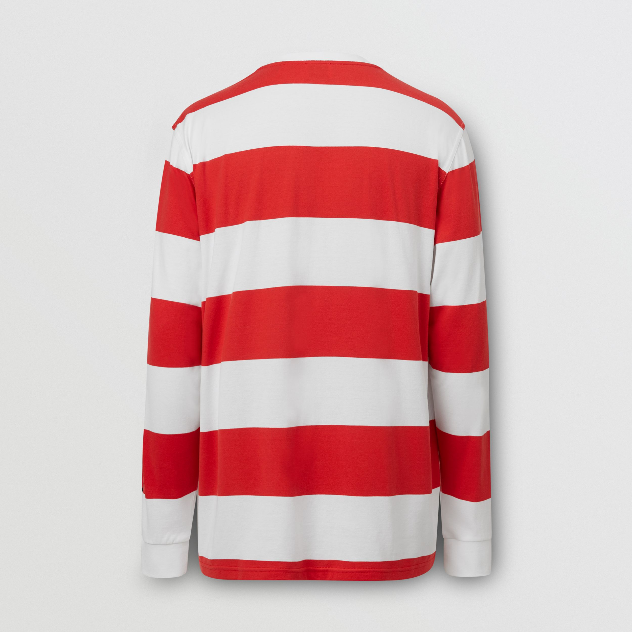 Long-sleeve Striped Cotton Oversized Top - Men | Burberry - 2