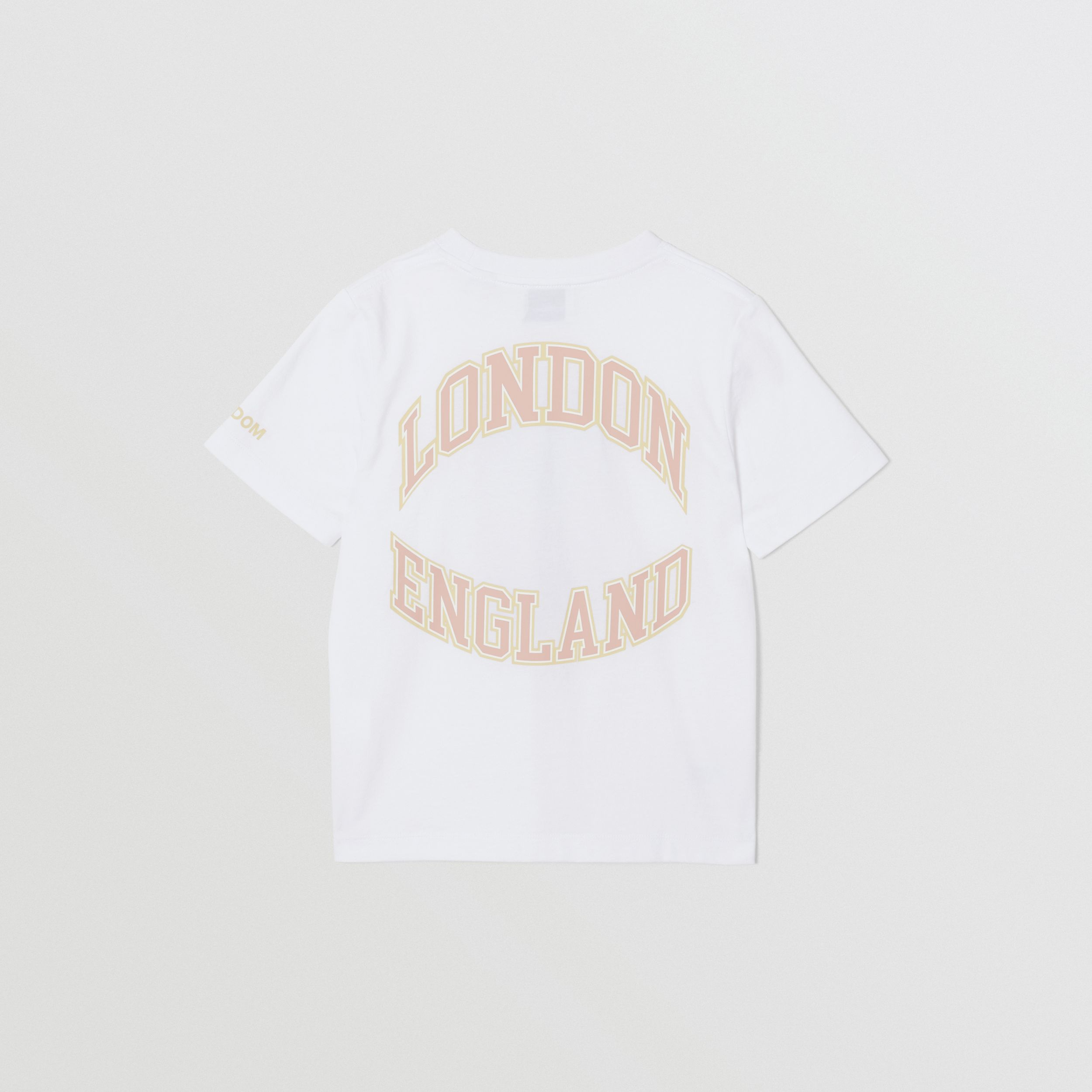 Character Print Cotton T-shirt in White | Burberry - 4