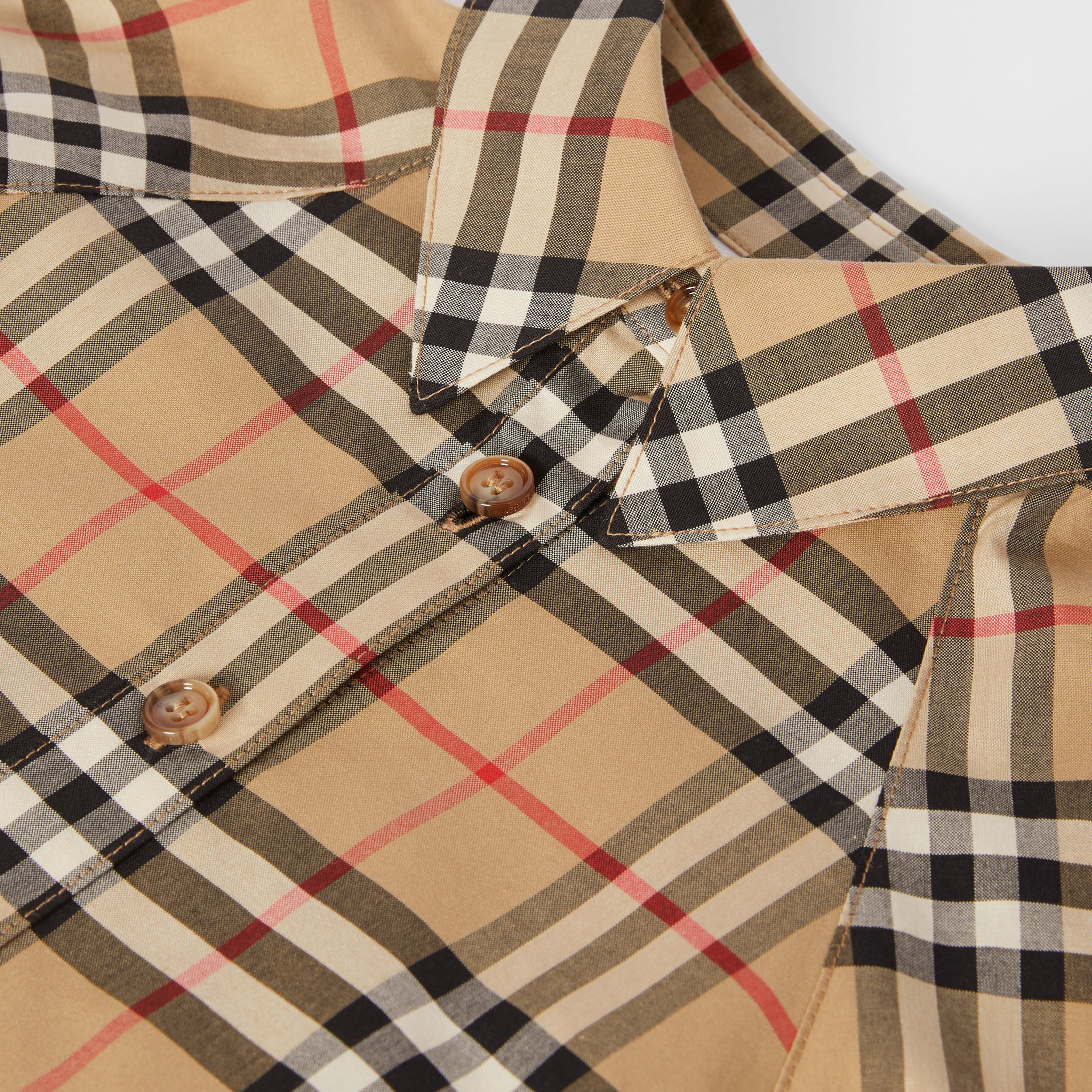 Vintage Check Cotton Shirt Dress in Archive Beige - Children | Burberry Australia - 2
