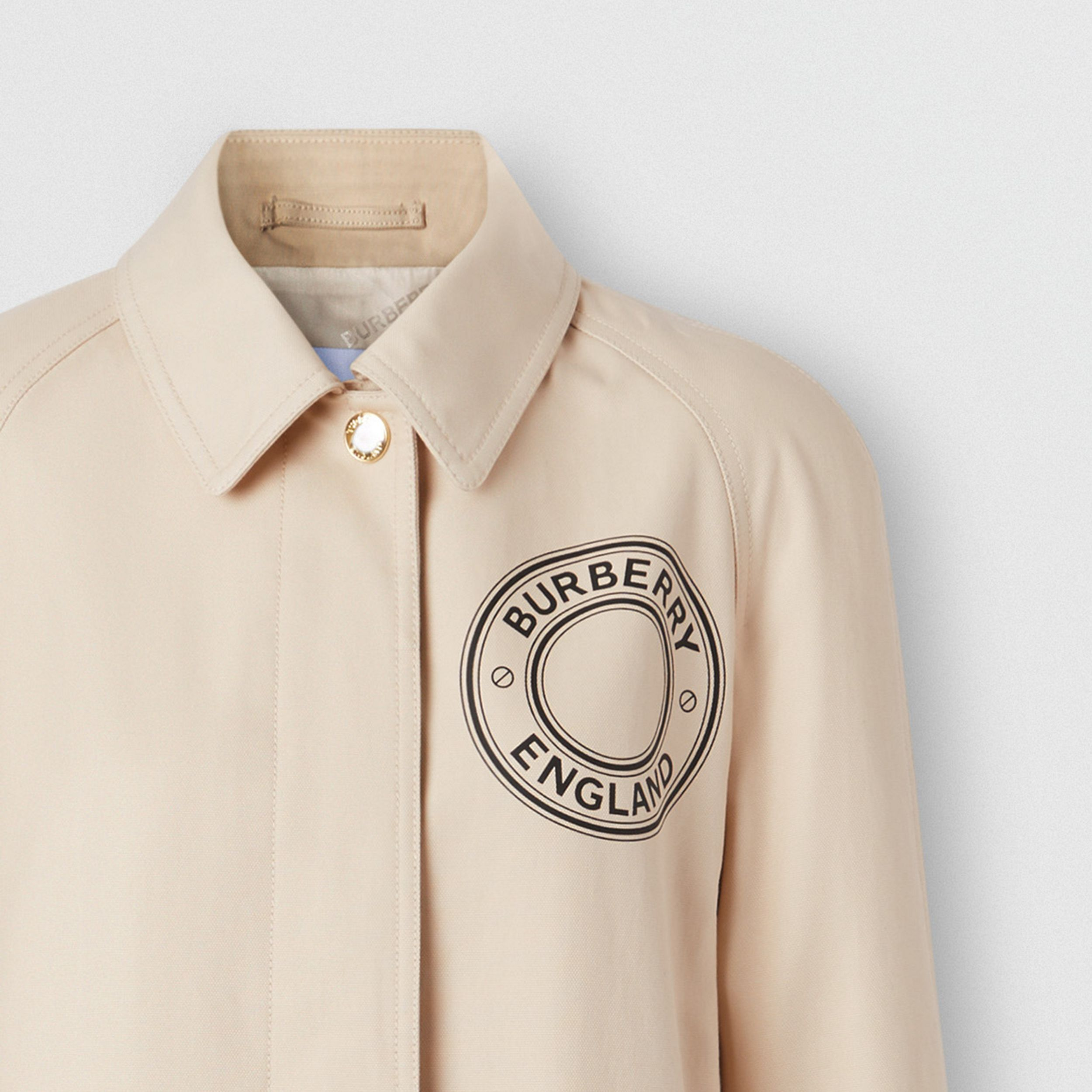 Logo Graphic Cotton Canvas Car Coat - Women | Burberry Canada - 3