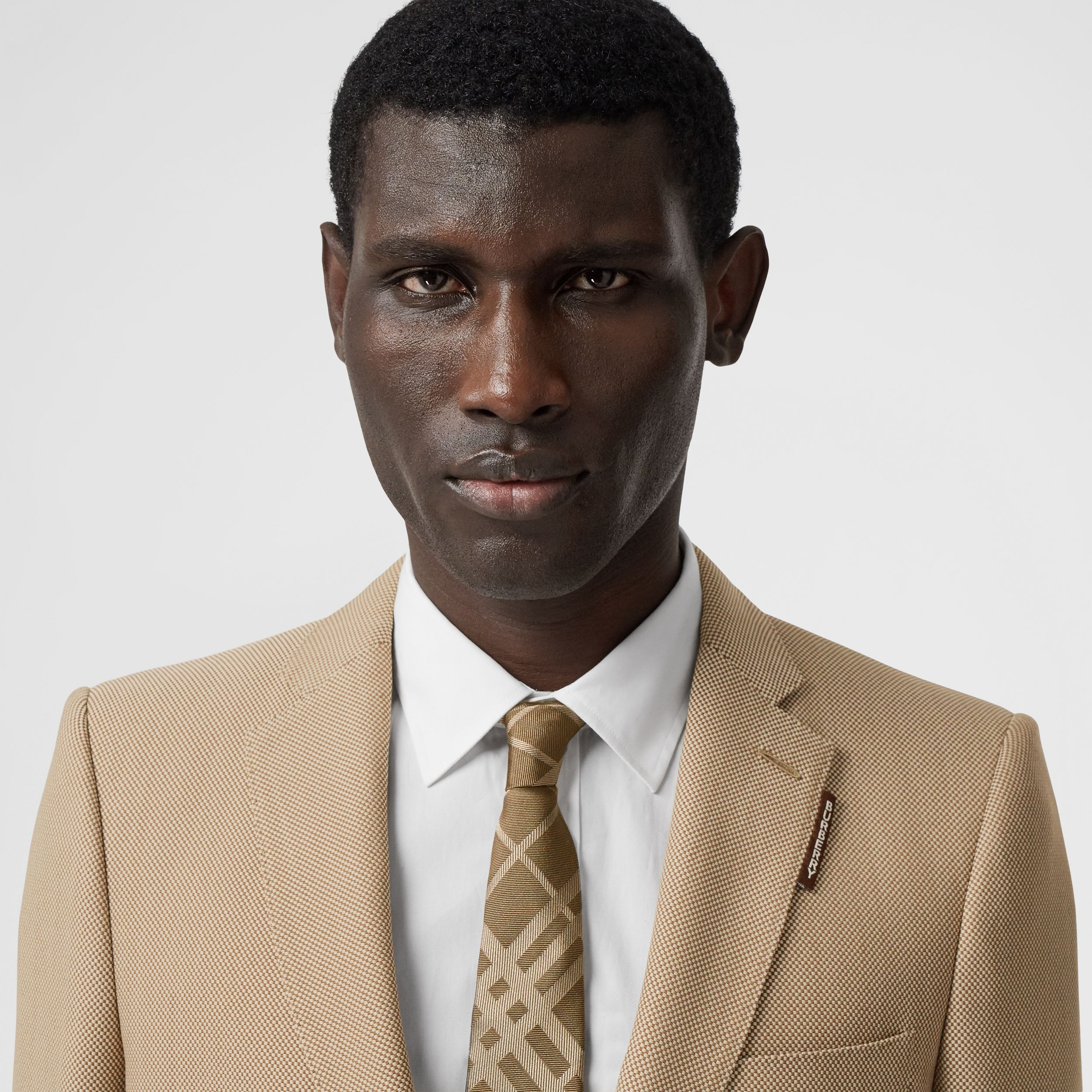 English Fit Technical Wool Canvas Tailored Jacket in Dusty Sand - Men | Burberry - 2
