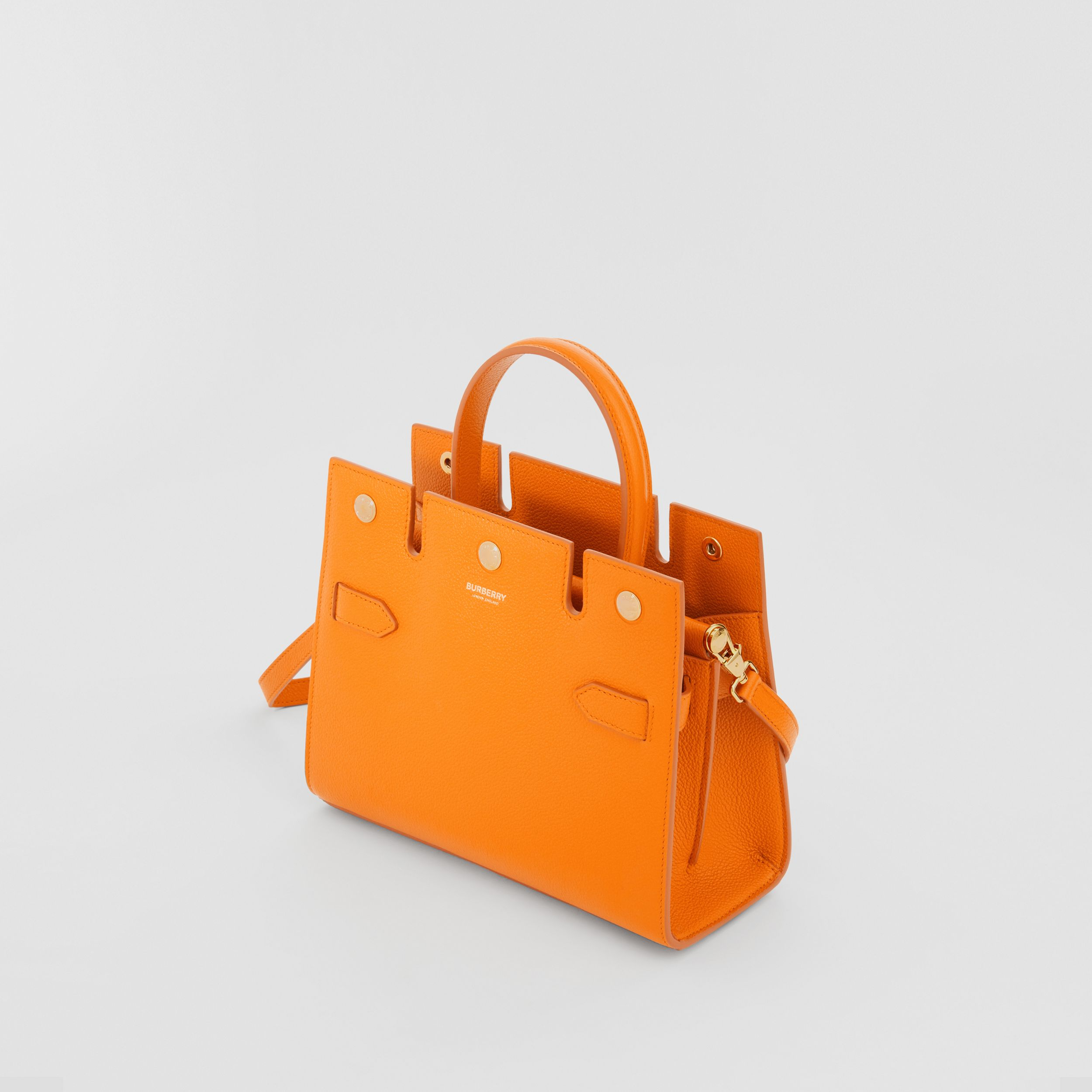 Mini Leather Title Bag in Orange - Women | Burberry - 4