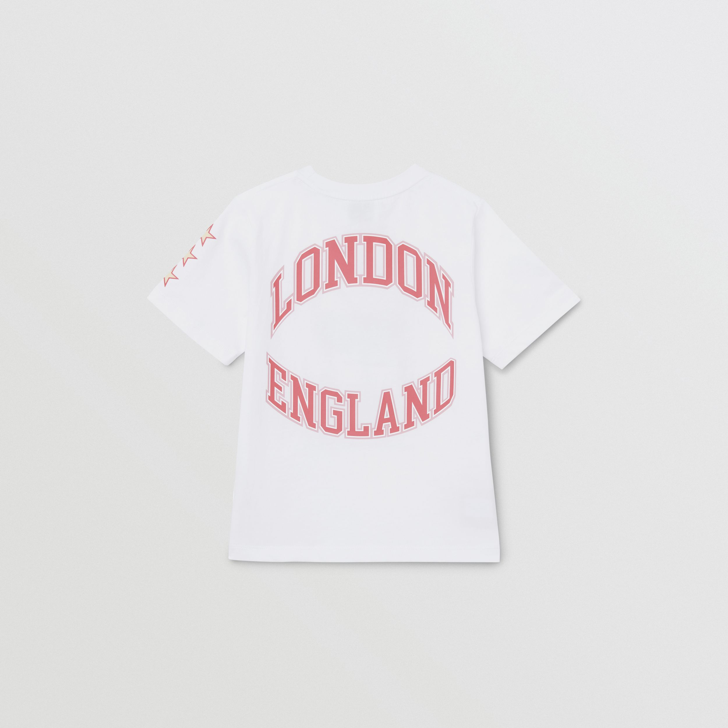 Character Print Cotton T-shirt in White | Burberry - 3