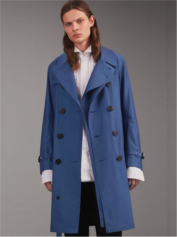 Tropical Gabardine Cotton Trench Coat