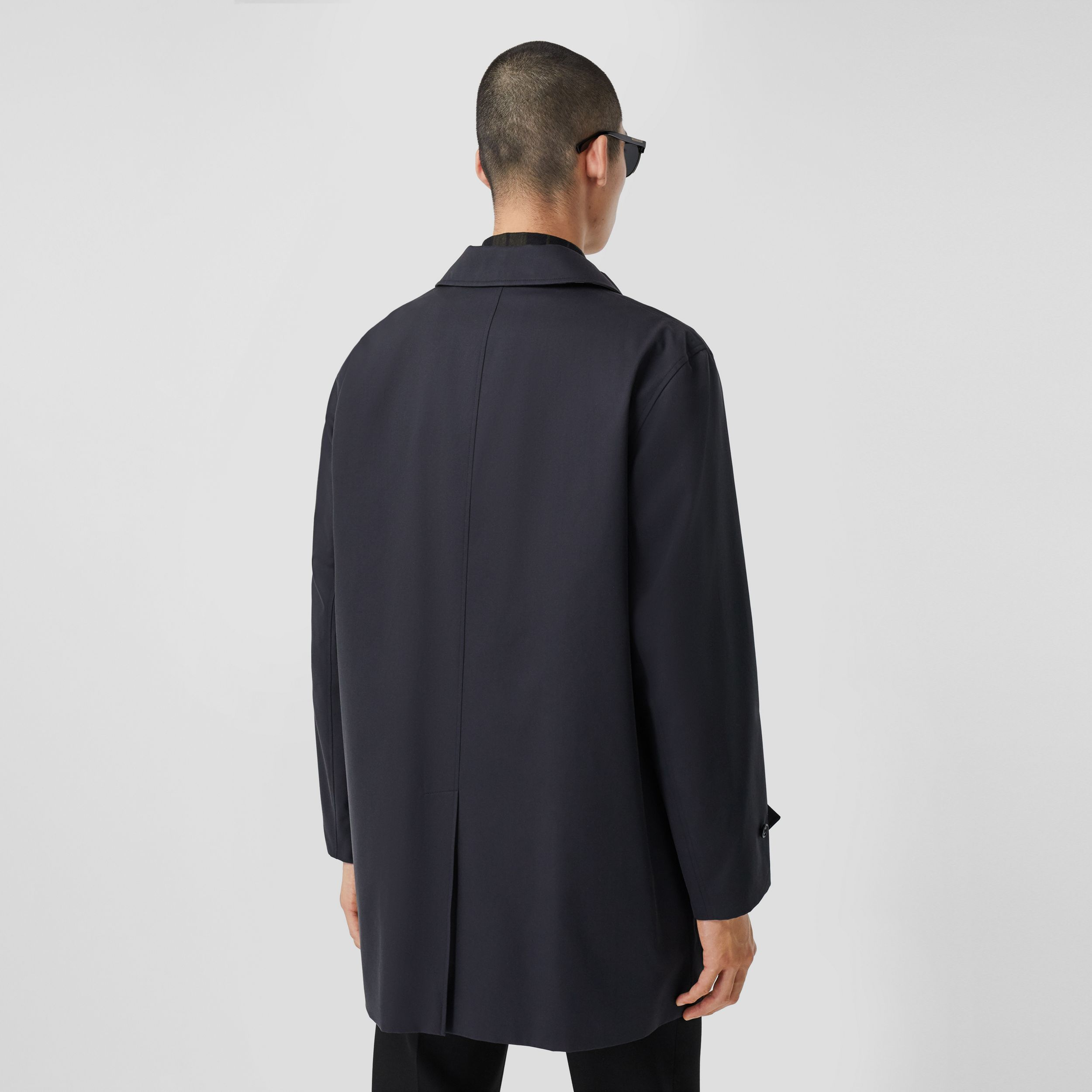 Organic Cotton Gabardine Car Coat in Midnight - Men | Burberry Australia - 3