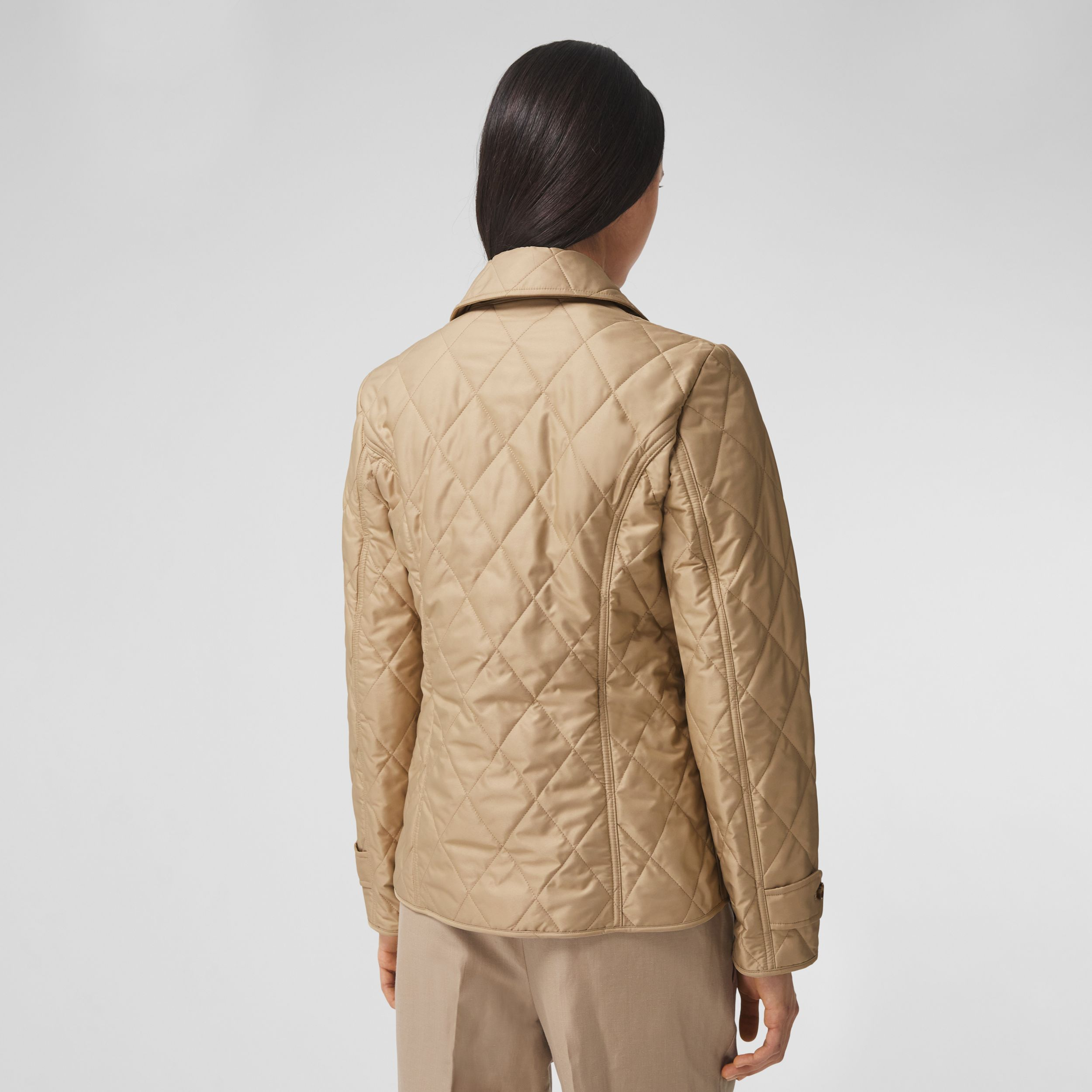 Diamond Quilted Thermoregulated Jacket in New Chino - Women | Burberry - 3