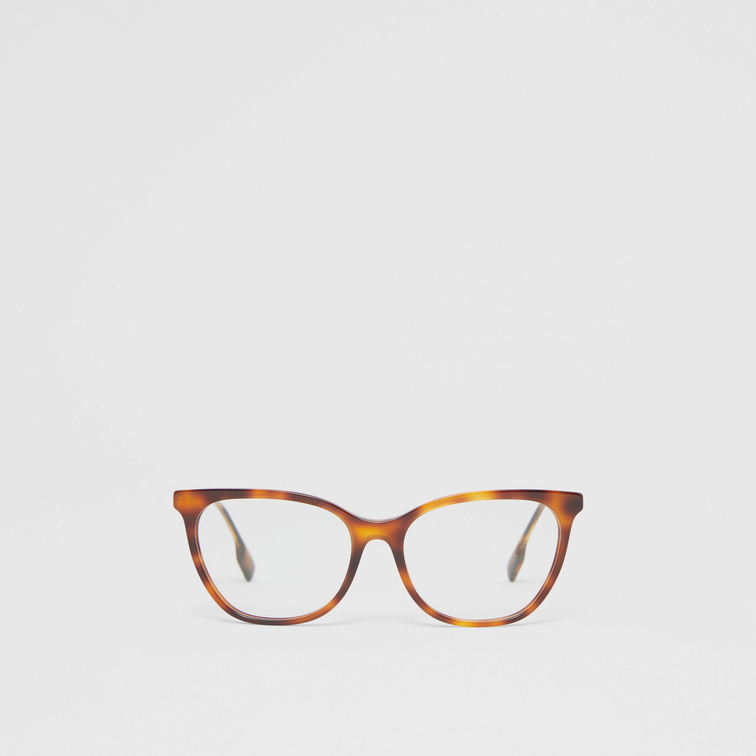 Cat-eye Optical Frames in Dark Amber Tortoiseshell - Women | Burberry - 1
