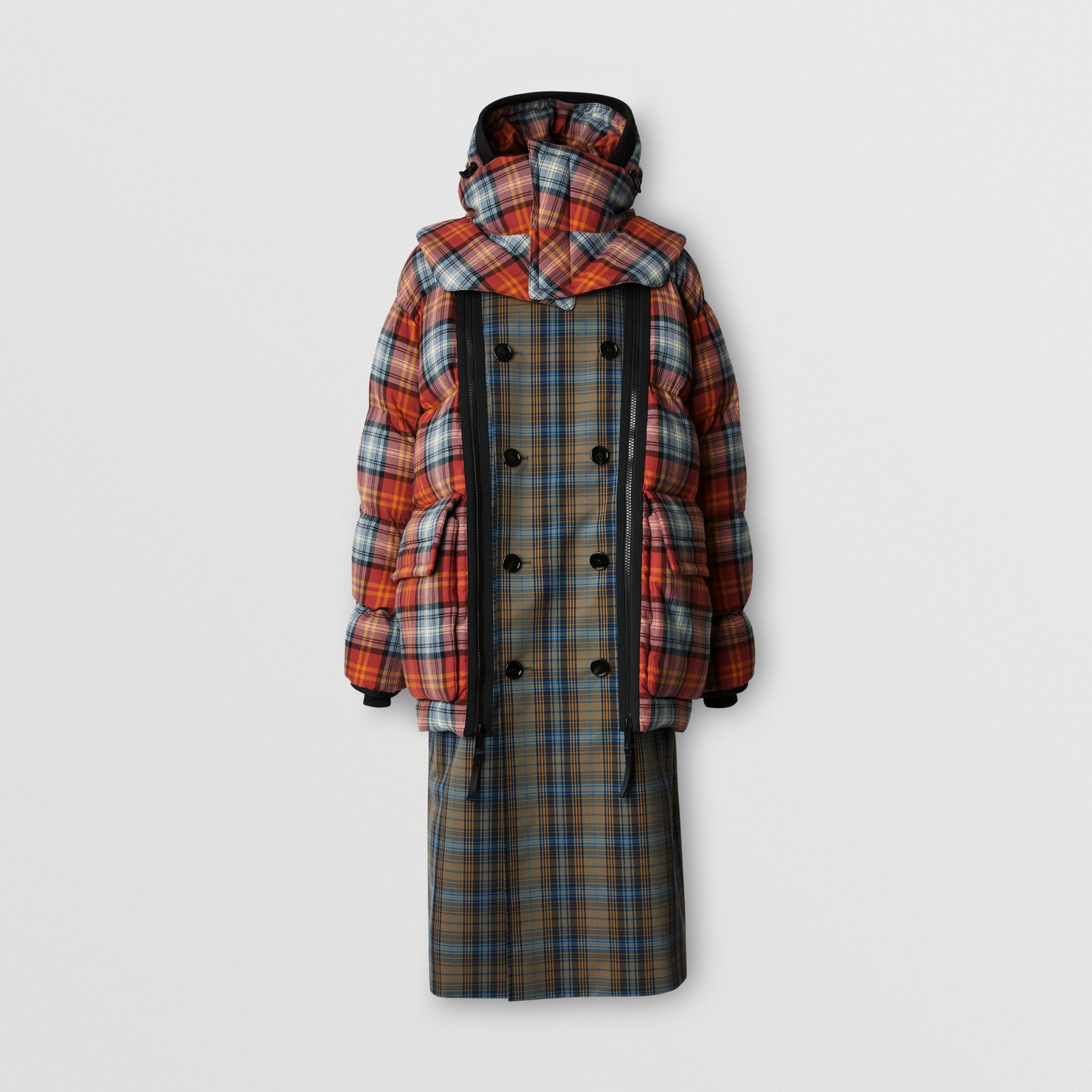 Sleeveless Check Trench Coat With Detachable Puffer in Multicolour - Men | Burberry - 4