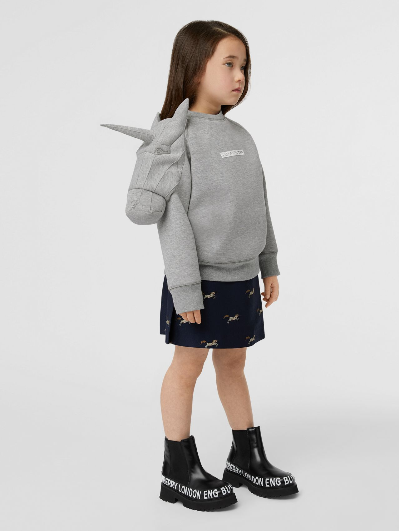 3D Unicorn Sweatshirt – Online Exclusive in Grey Melange