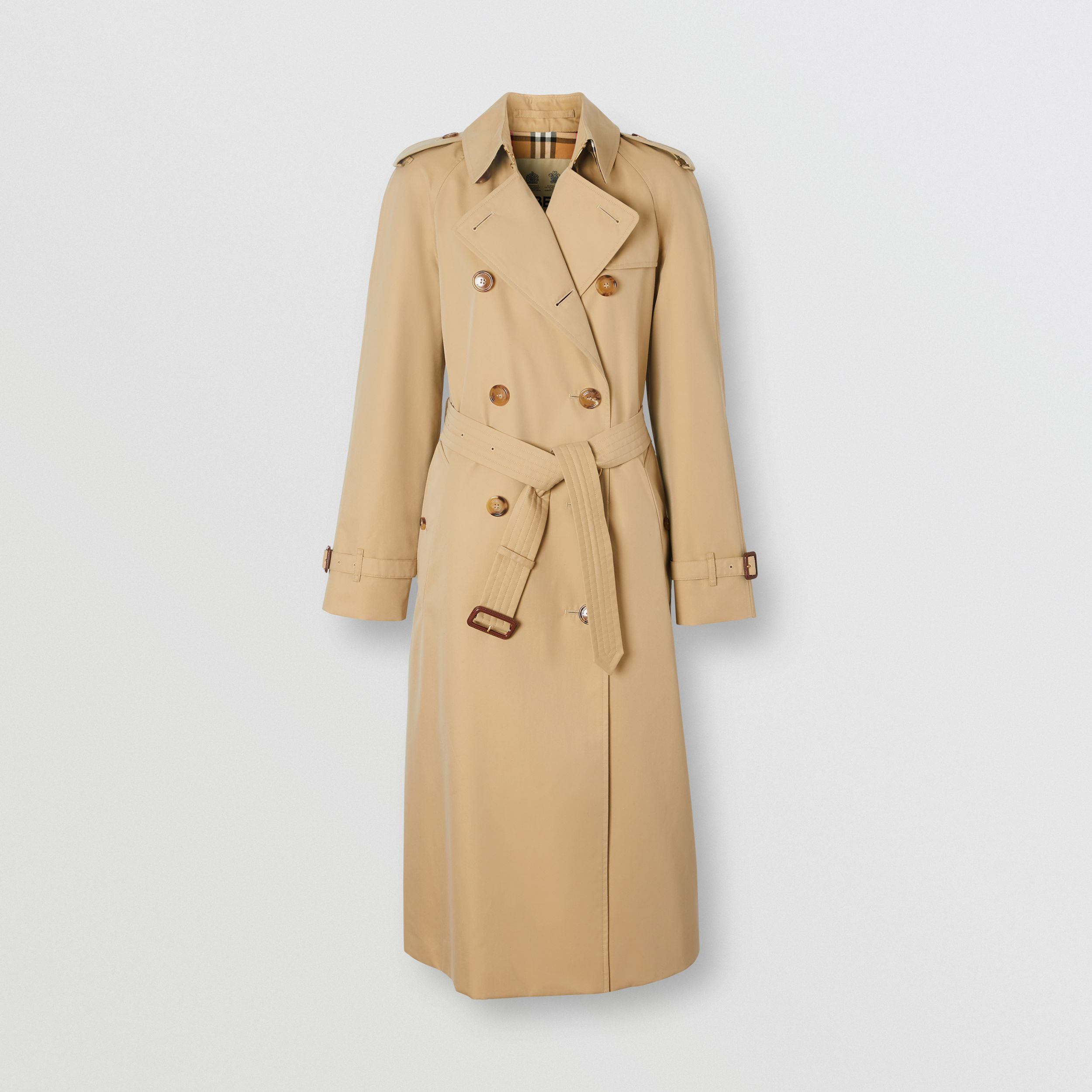 The Long Waterloo Heritage Trench Coat in Honey - Women | Burberry - 4
