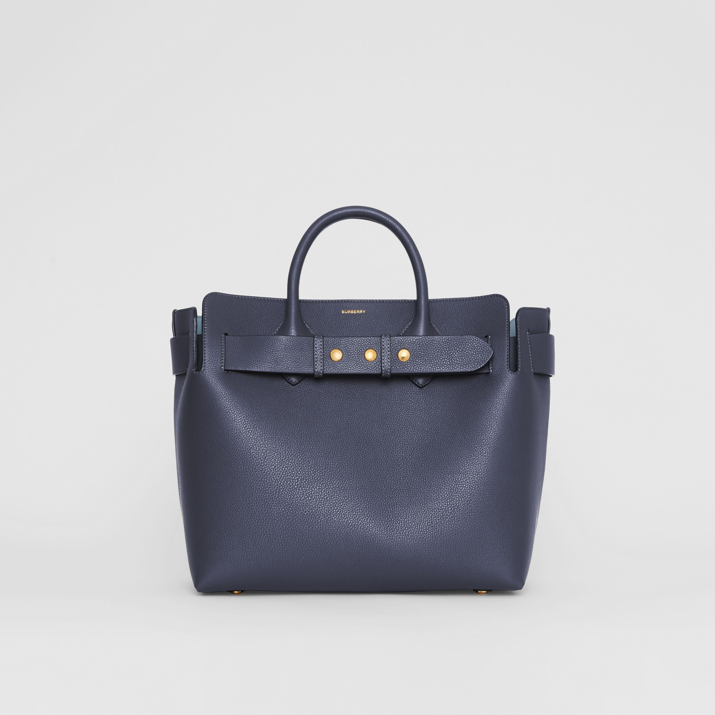 The Medium Leather Triple Stud Belt Bag in Regency Blue - Women | Burberry - 1