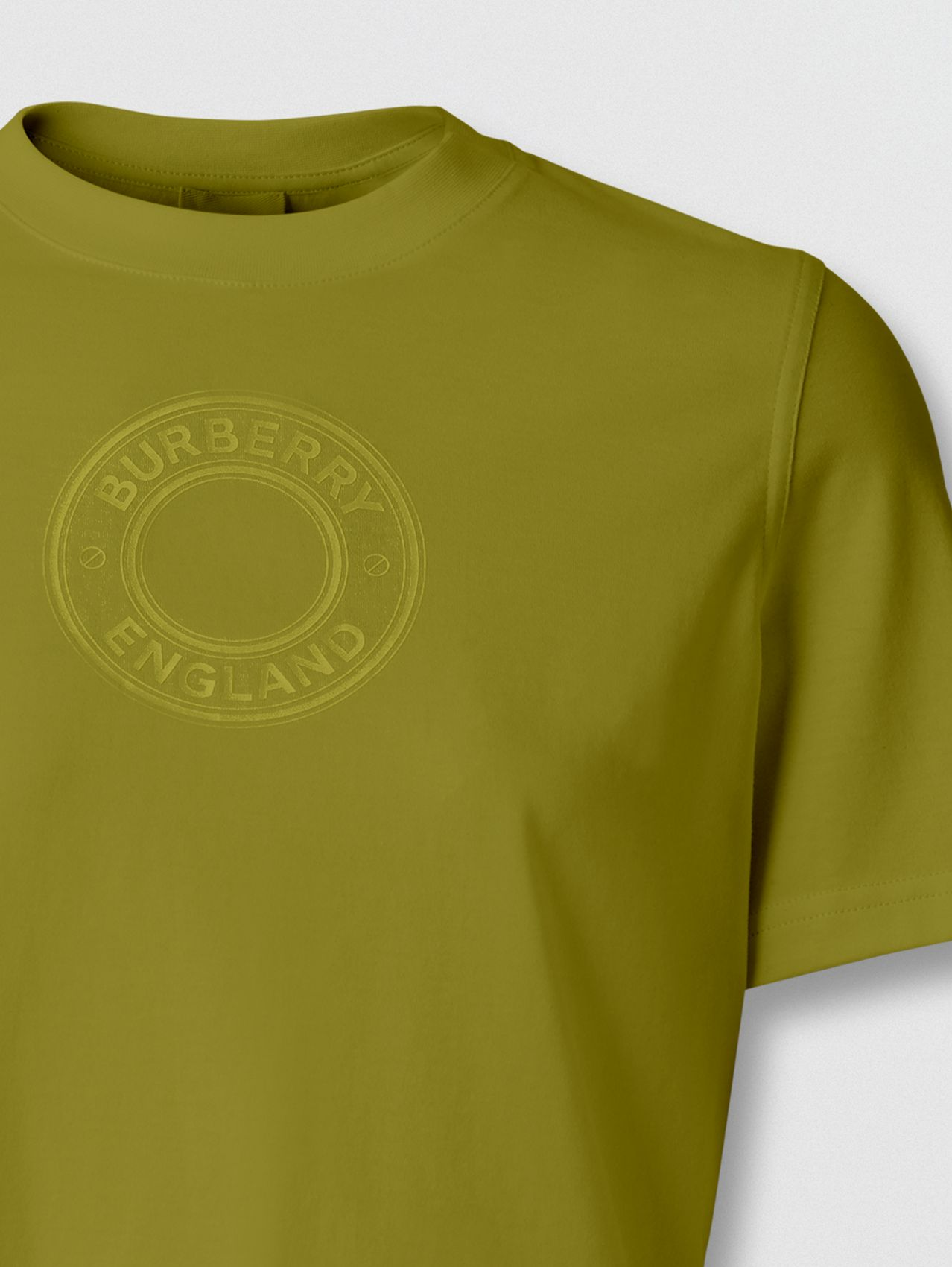 Logo Graphic Cotton T-shirt in Juniper Green
