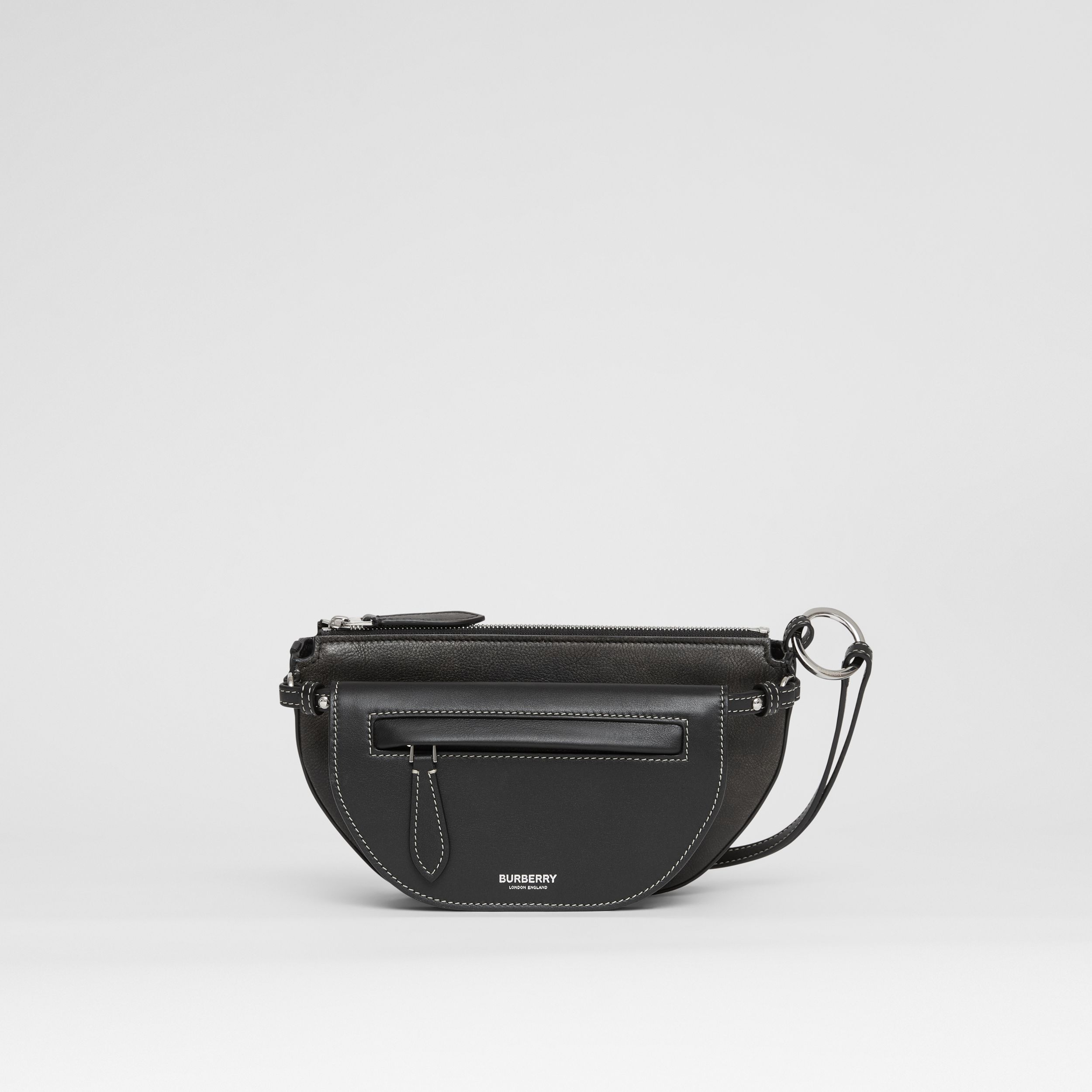 Mini Leather Double Olympia Bag in Black - Women | Burberry - 1