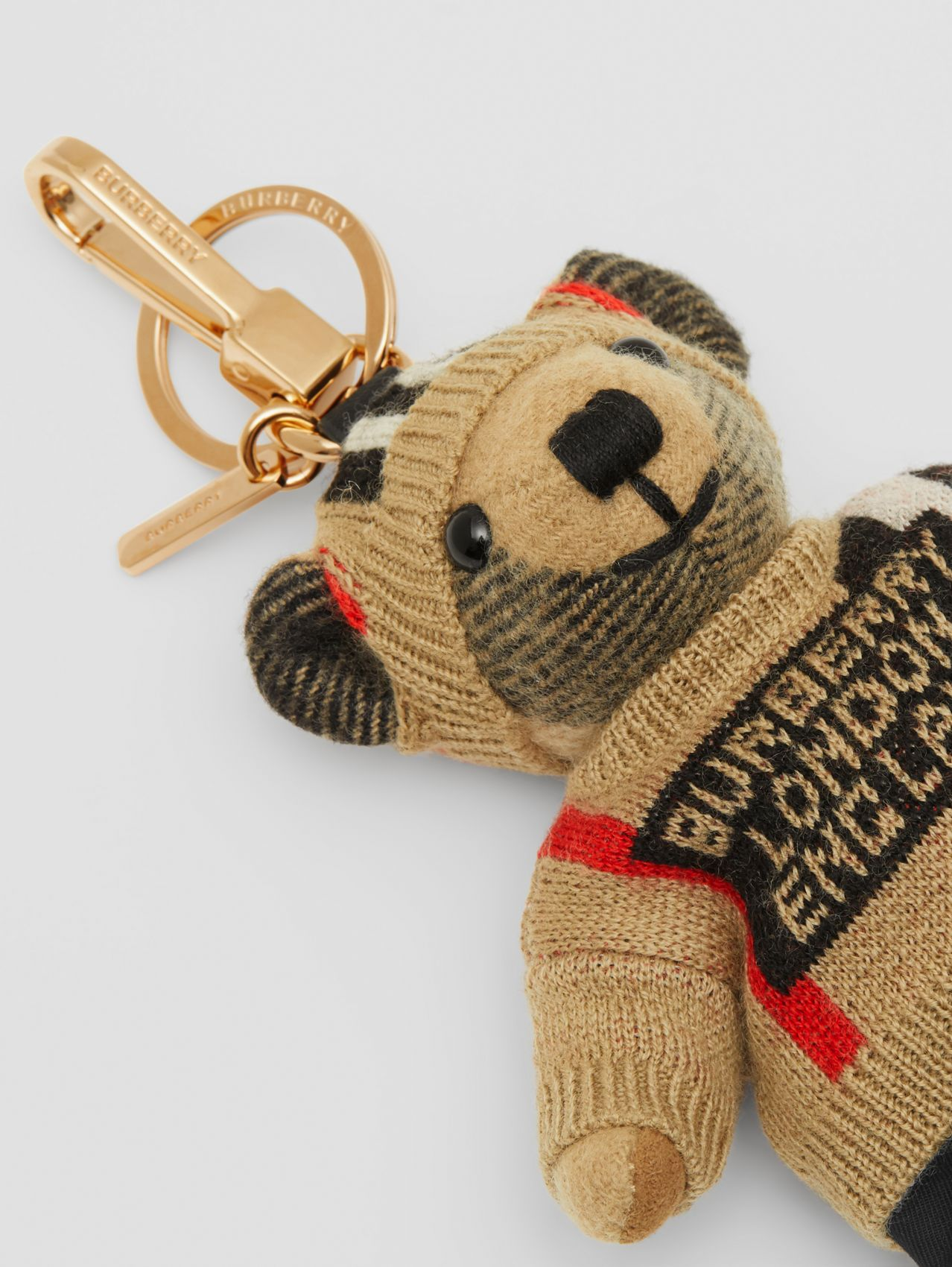 Thomas Bear Charm in Icon Stripe Sweater and Beanie (Multicolour)
