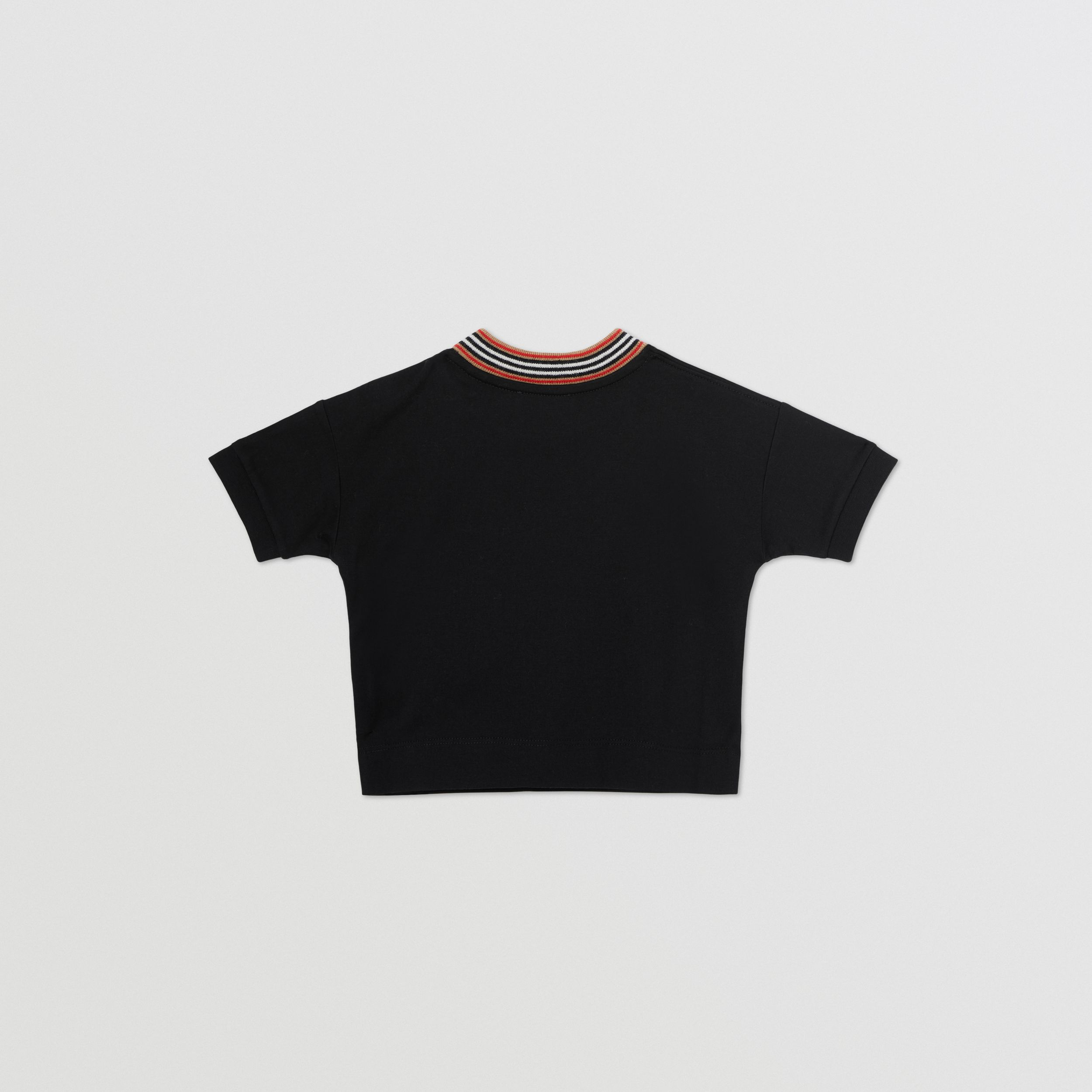 Cake Print Cotton T-shirt in Black - Children | Burberry - 4